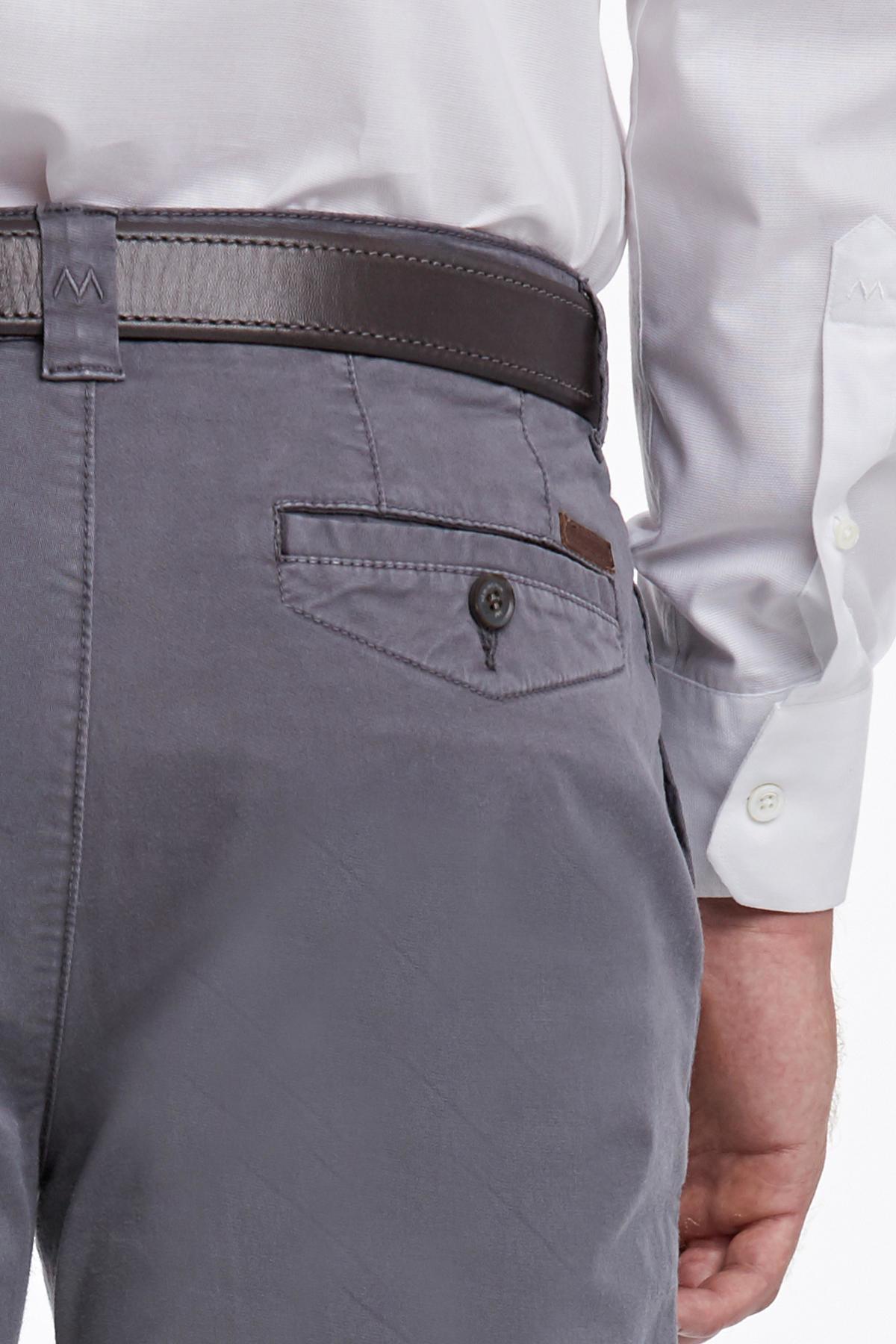 Açık Gri Pamuk Chino Pantolon