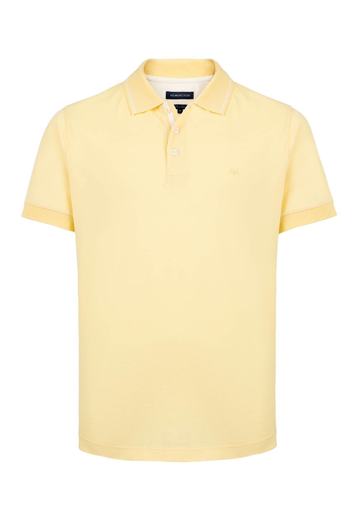 Pike Örgü Sarı Polo Yaka T-Shirt