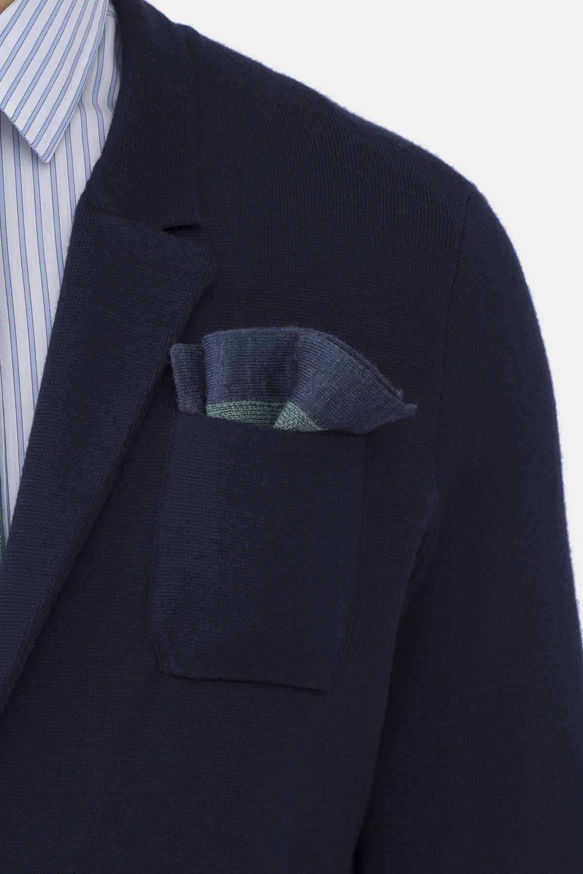 Açık Yeşil Örgü Ceket Mendili