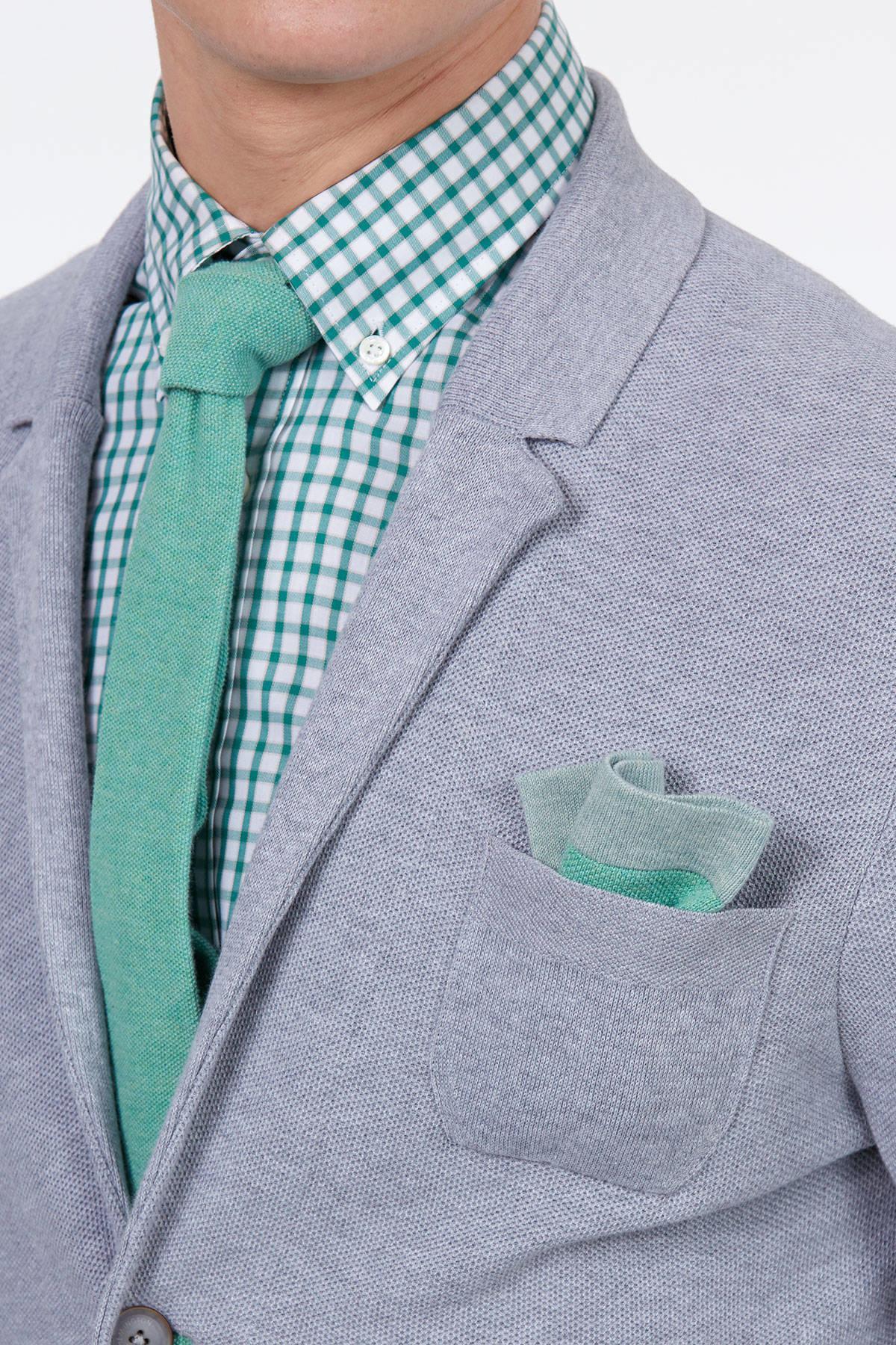 Su Yeşili Örgü Kravat