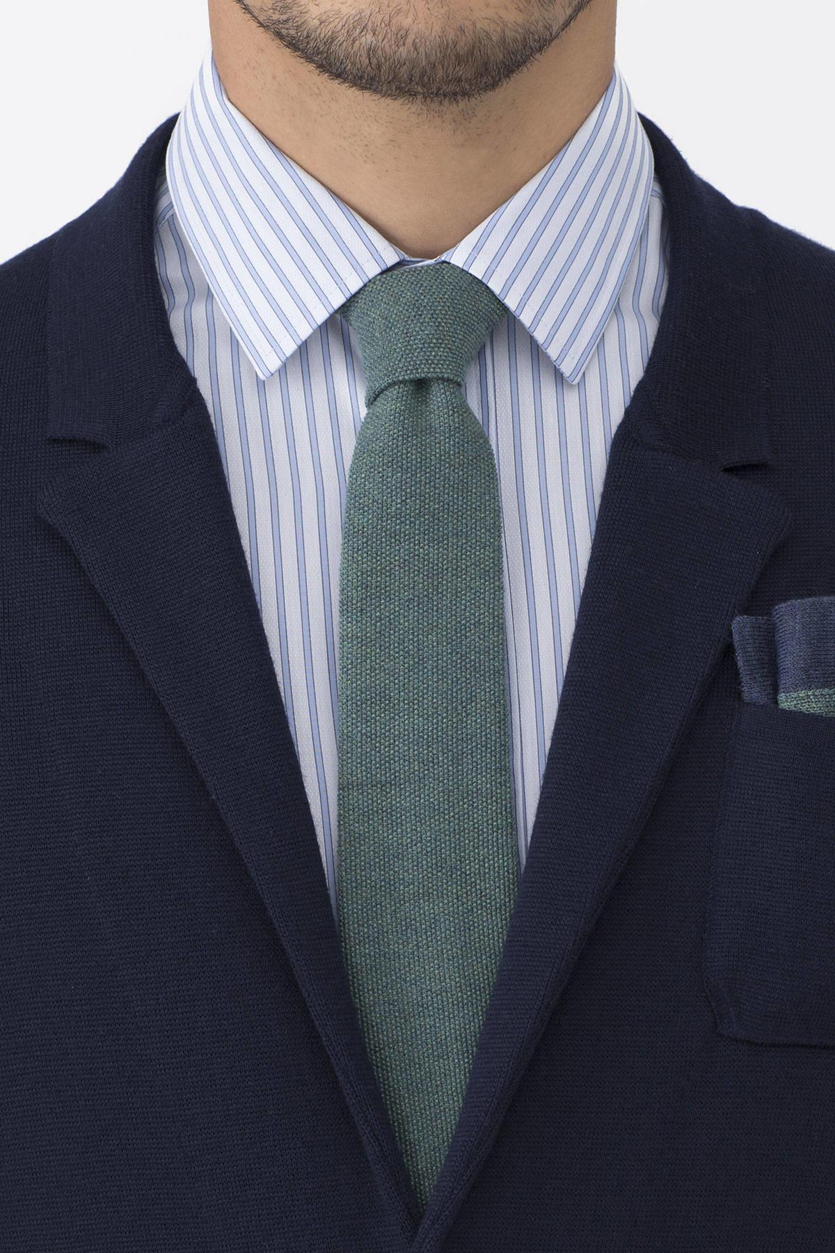 Açık Yeşil Örgü Kravat