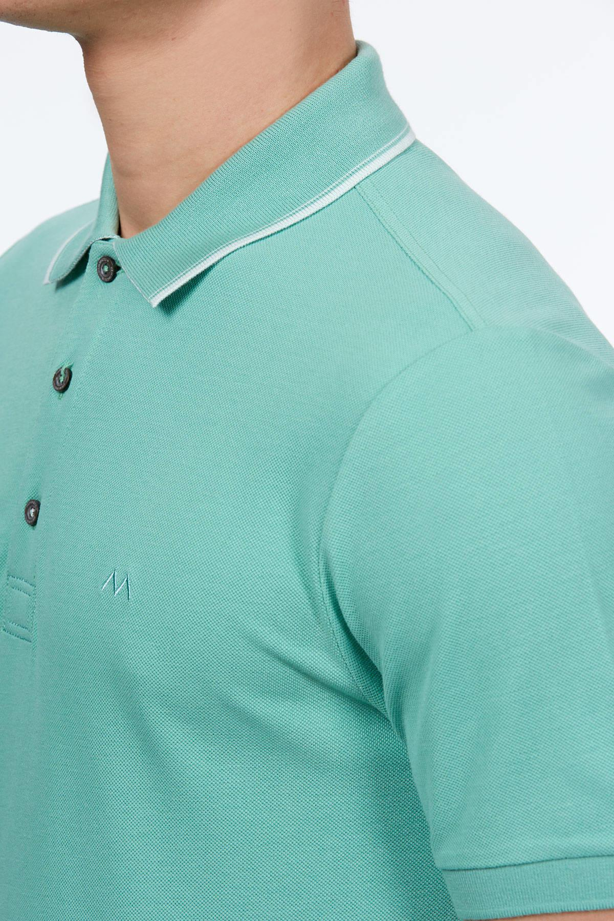 Açık Yeşil Polo Yaka Pike T-Shirt