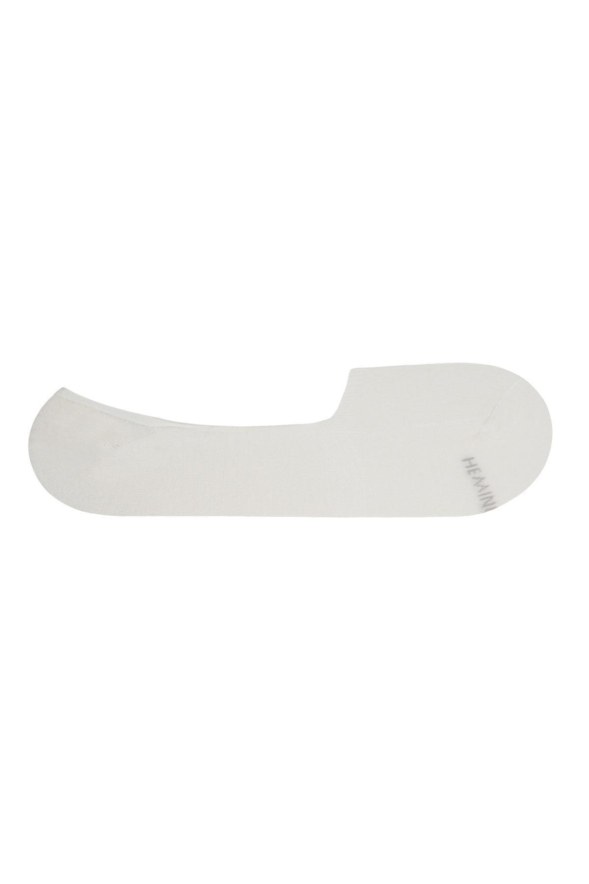 Bambu Karışımlı Görünmez Beyaz Çorap