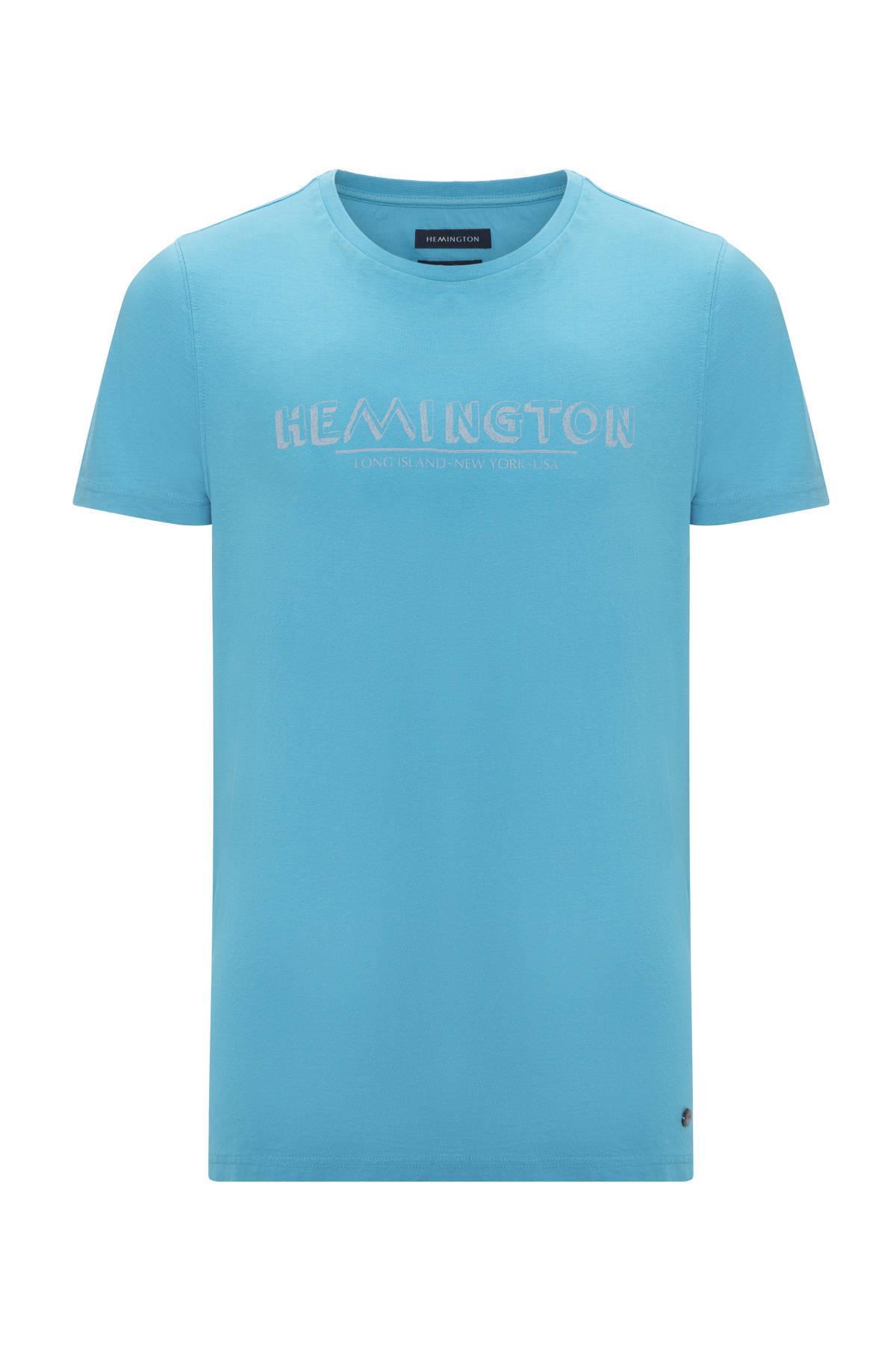 Turkuaz Bisiklet Yaka T-Shirt