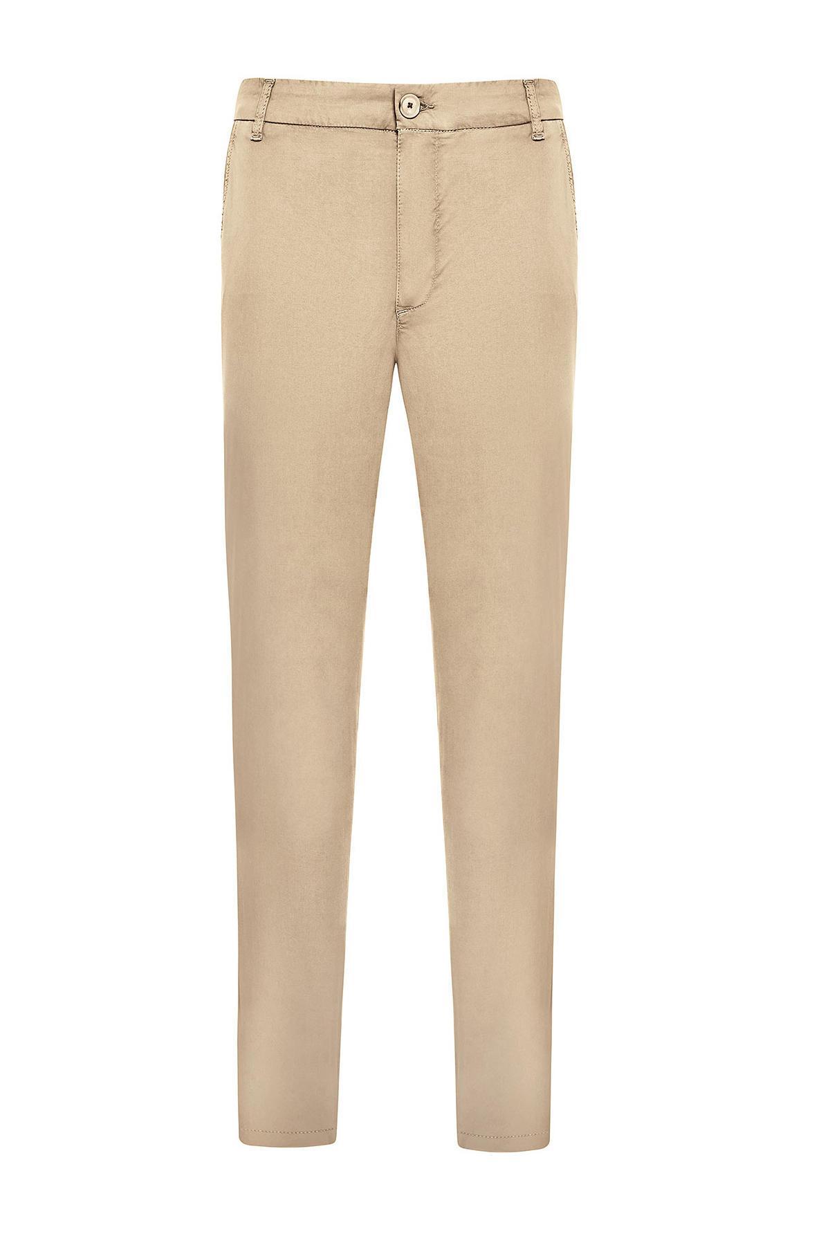 Kum Rengi Yazlık Chino Pantolon