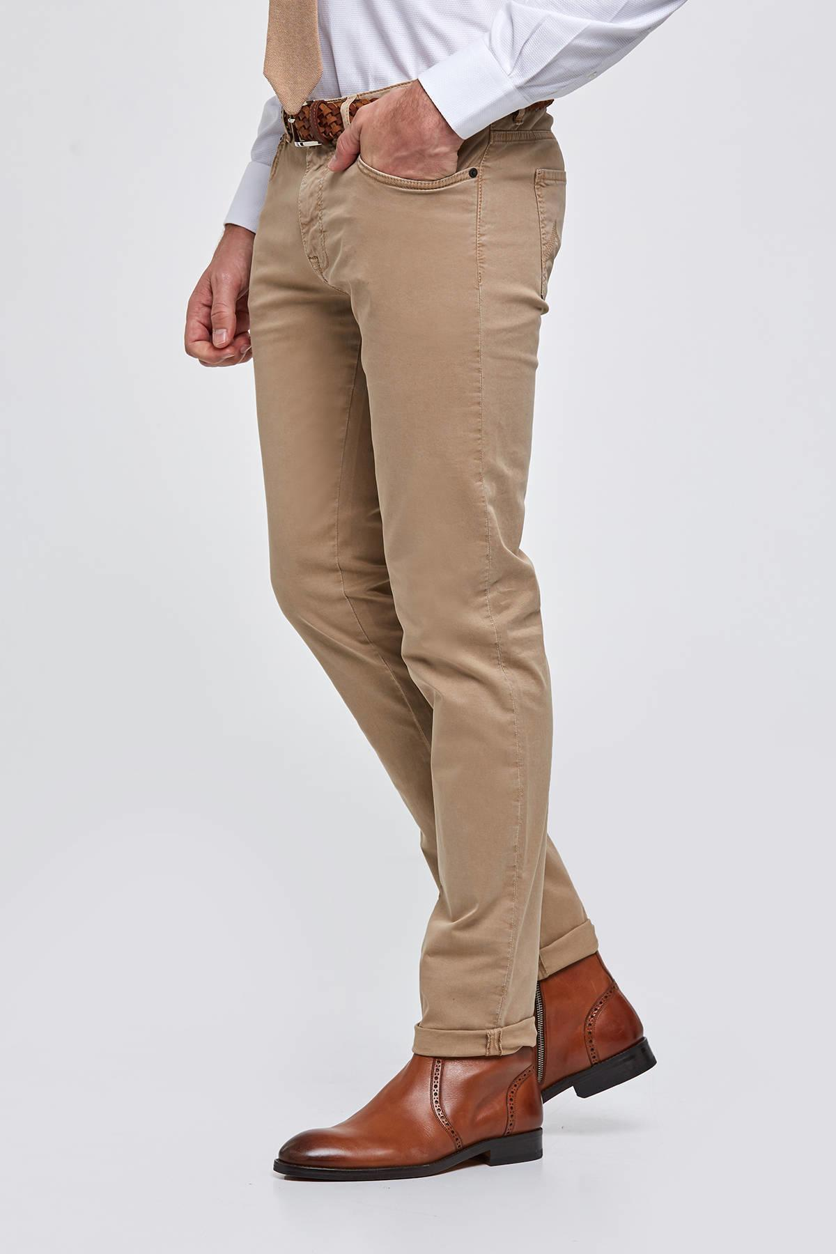 Camel Slim Fit 5 Cep Pantolon
