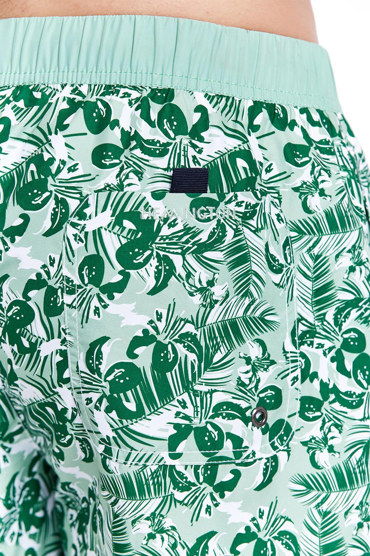 Desenli Açık Yeşil Mayo