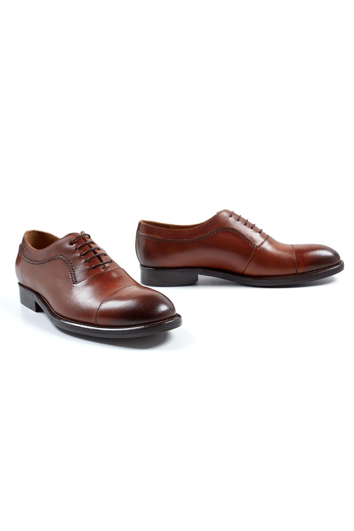 El Yapımı Taba Rengi Deri Ayakkabı