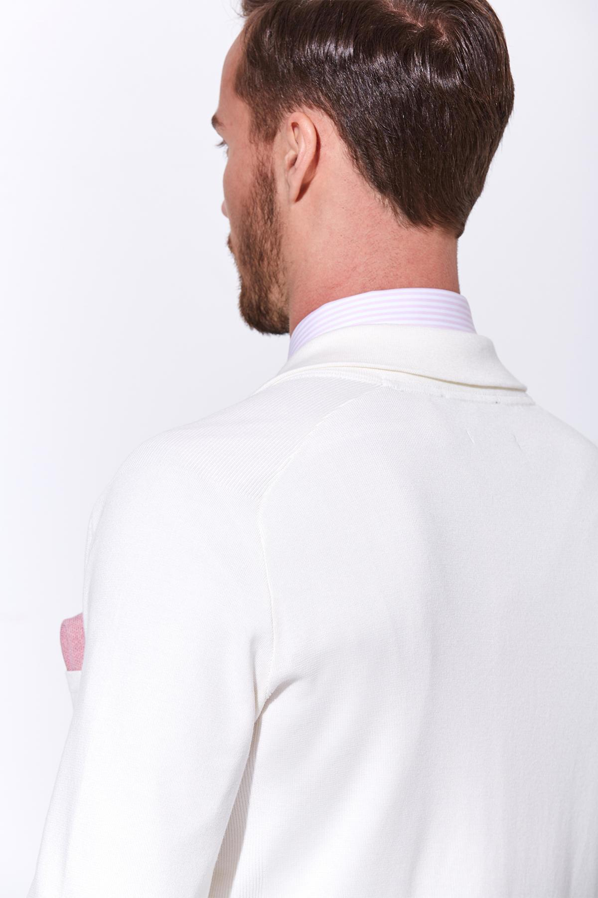 Giza Pamuk Beyaz Triko Ceket