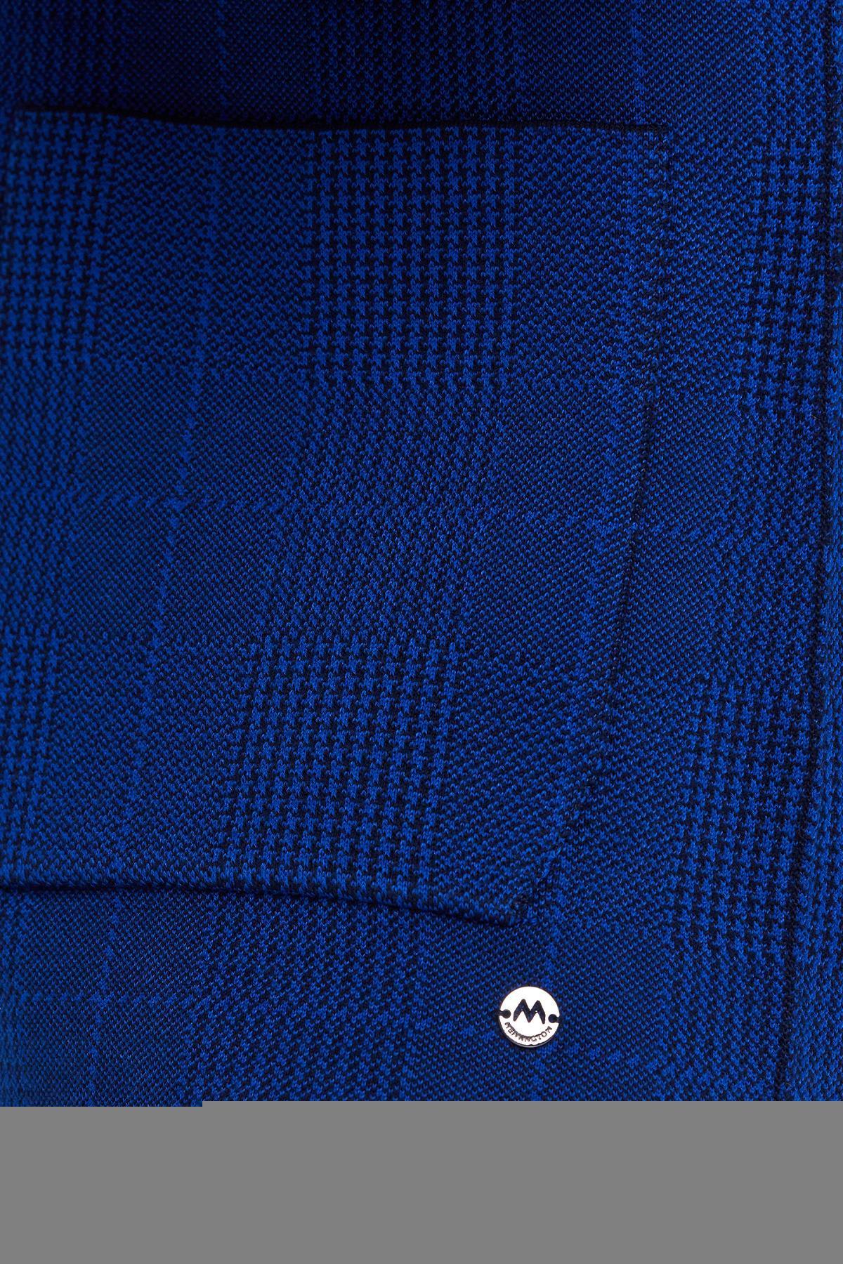 Giza Pamuk Lacivert Triko Ceket