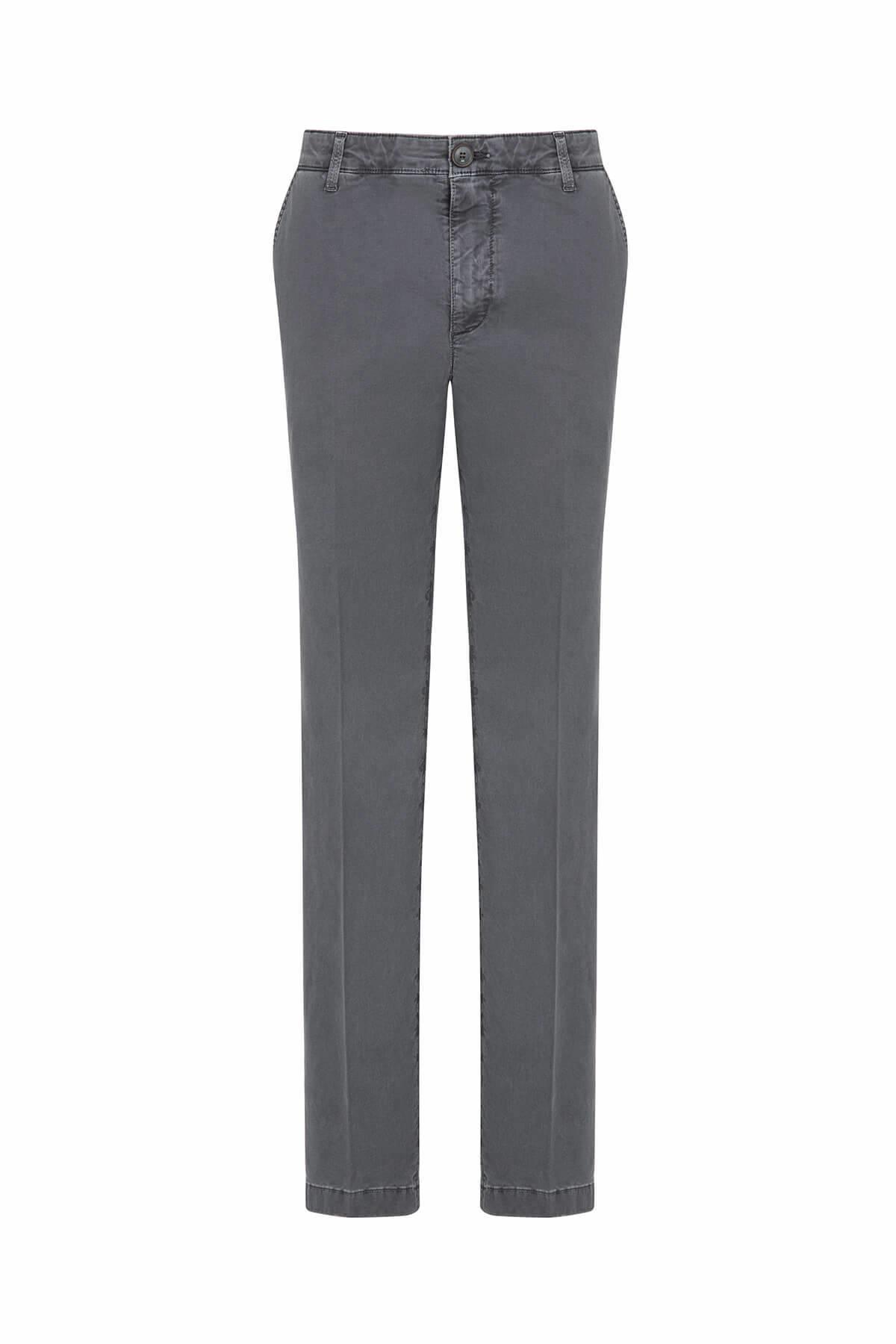 Pamuk Gri Chino Pantolon