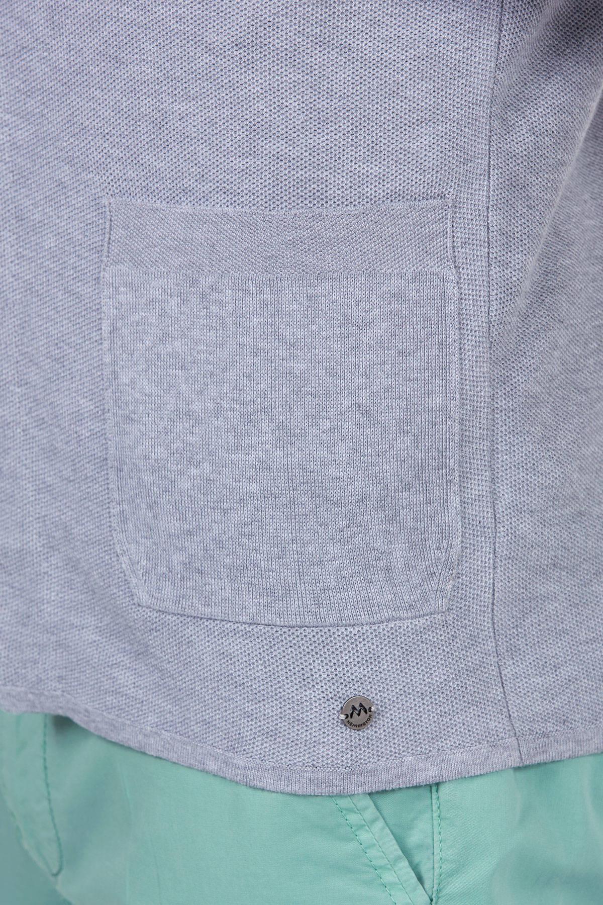 Gri Yazlık Triko Ceket
