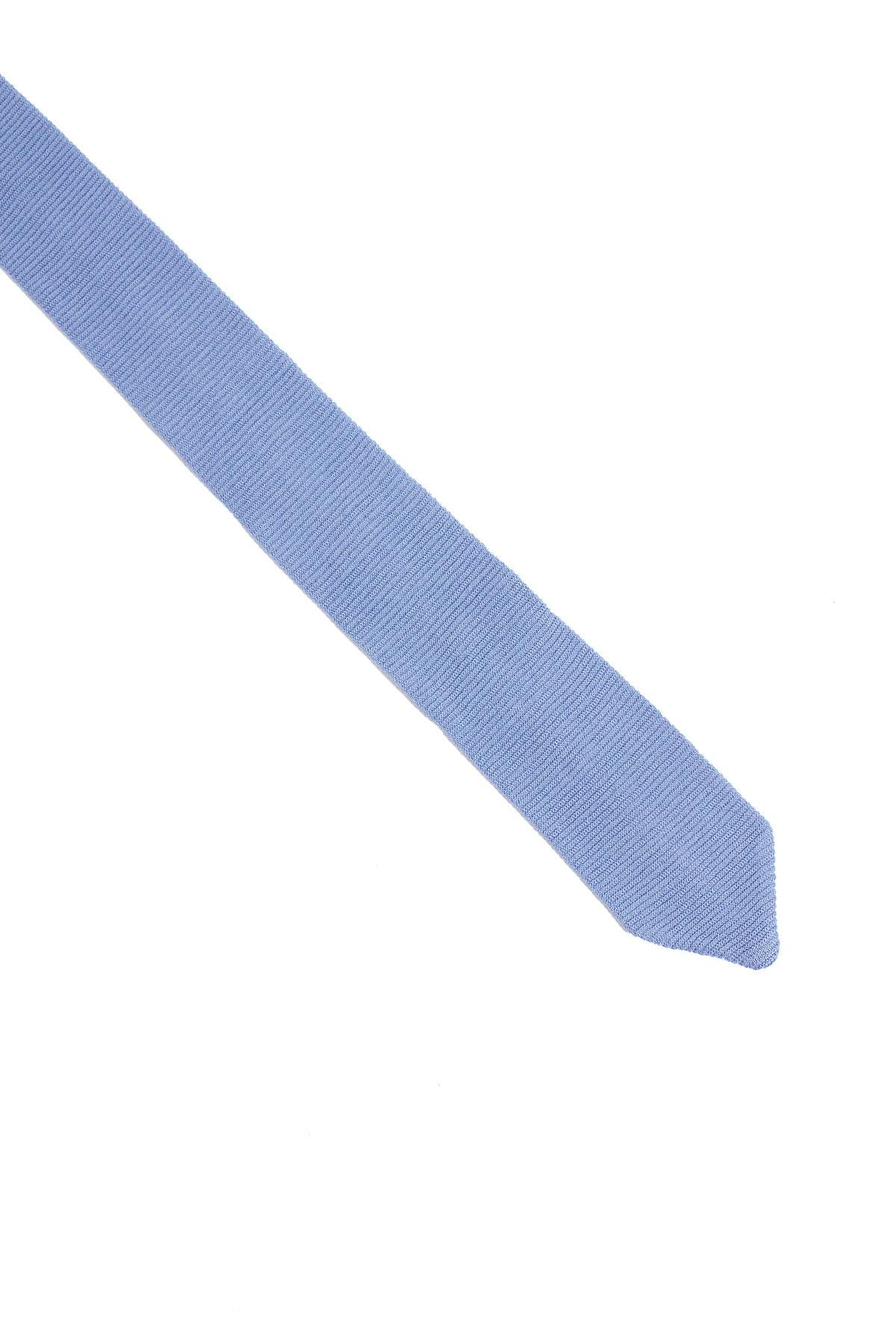 İpek Örgü Açık Mavi Kravat