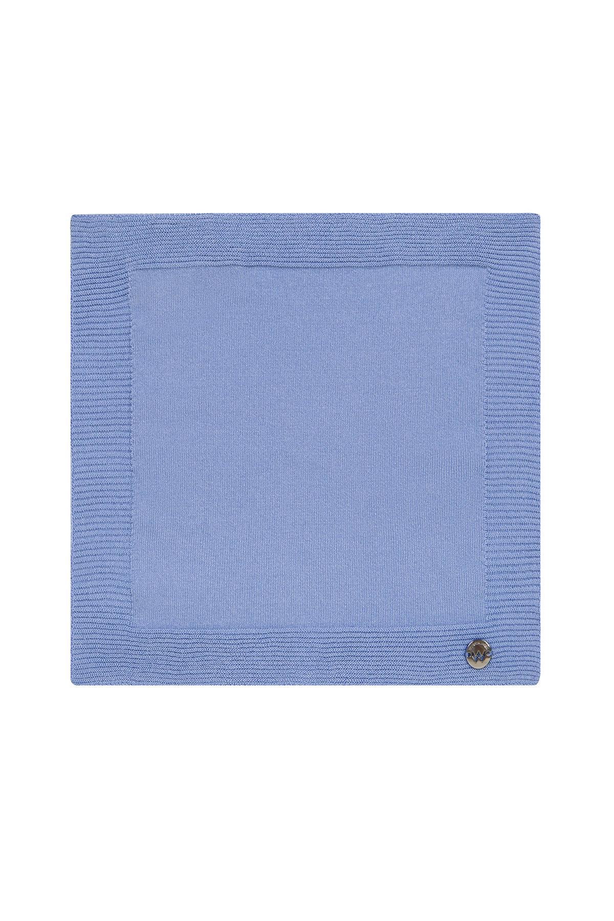 İpek Örgü Açık Mavi Cep Mendili