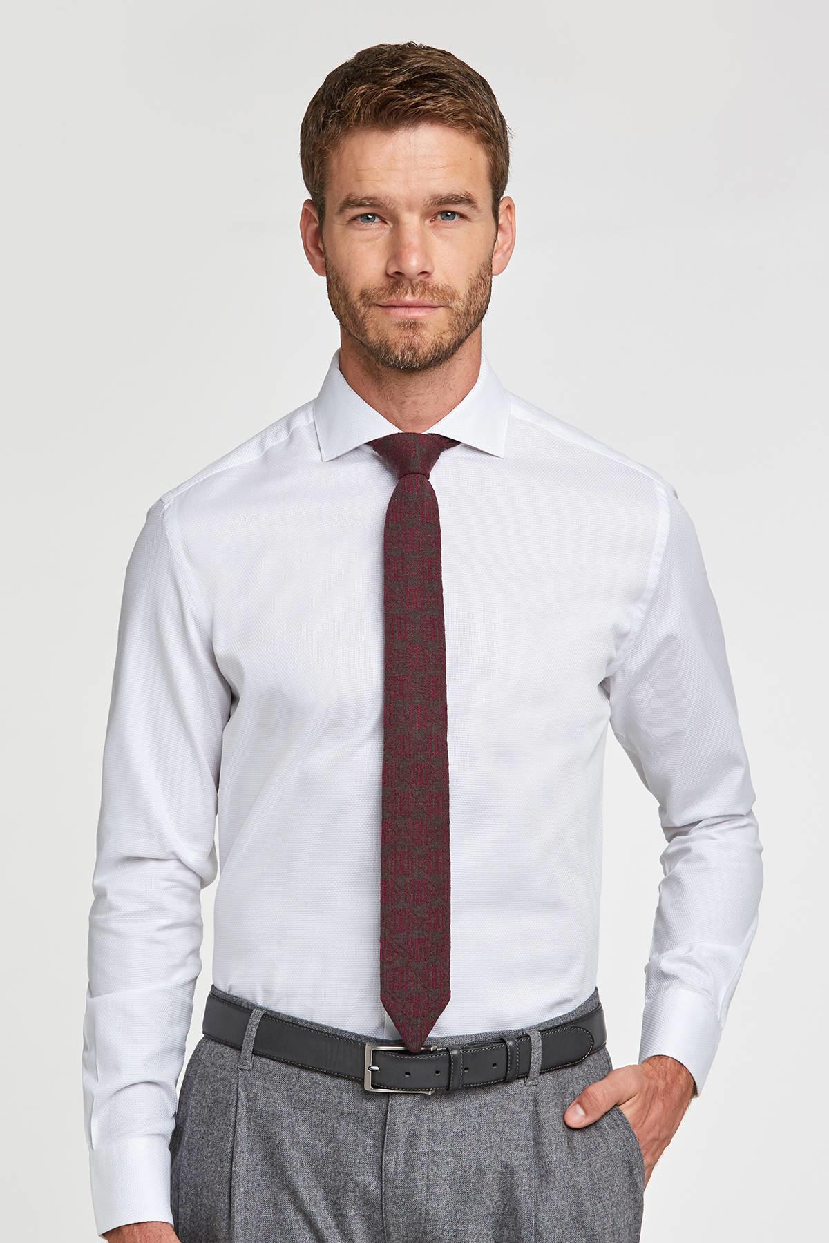 İtalyan Yaka Beyaz Business Gömlek