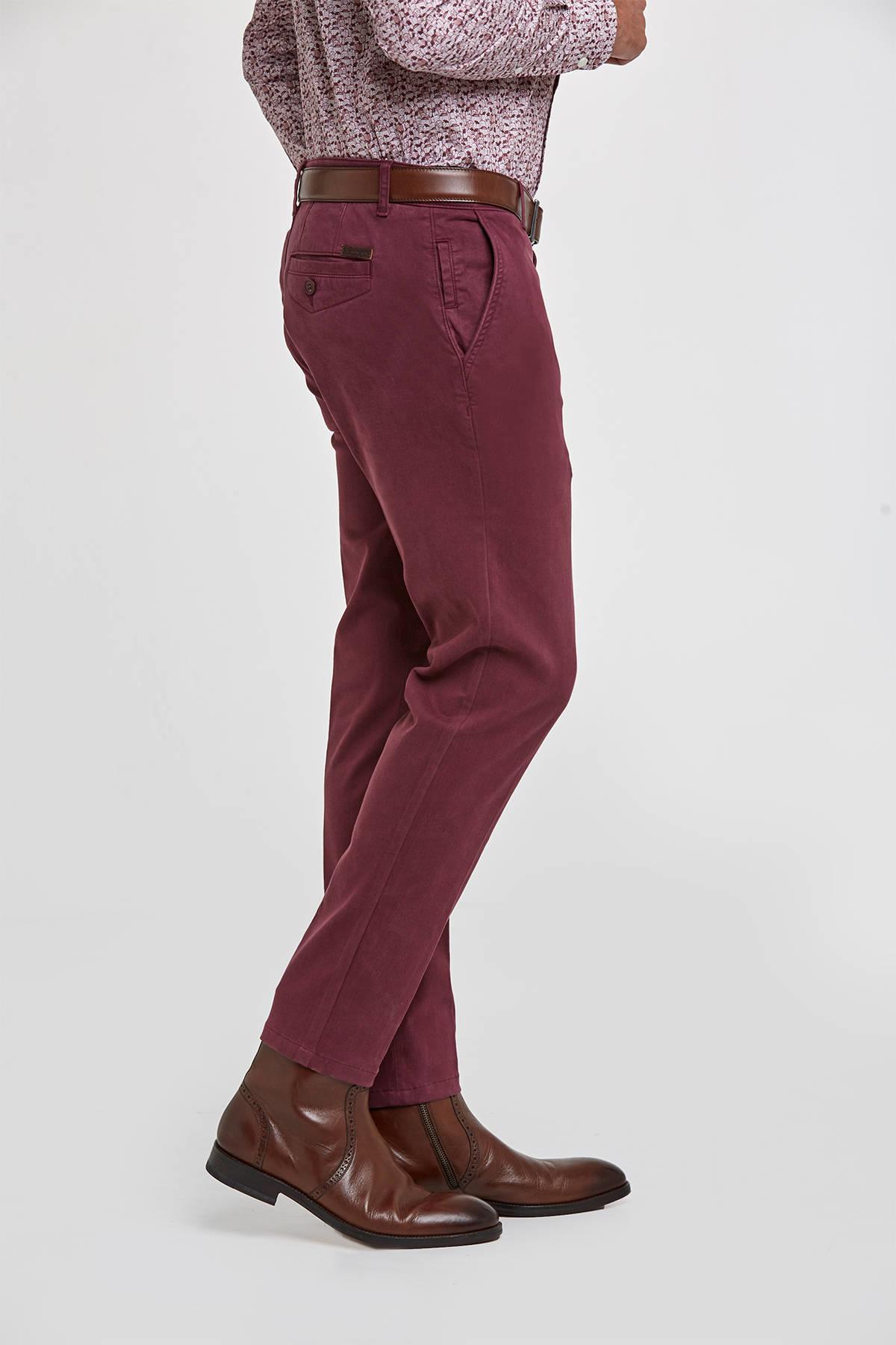 Kadife Dokulu Rose Wood Chino Pantolon