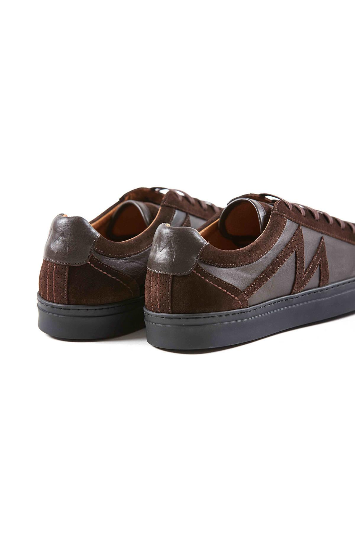 Kahverengi Deri Sneakers