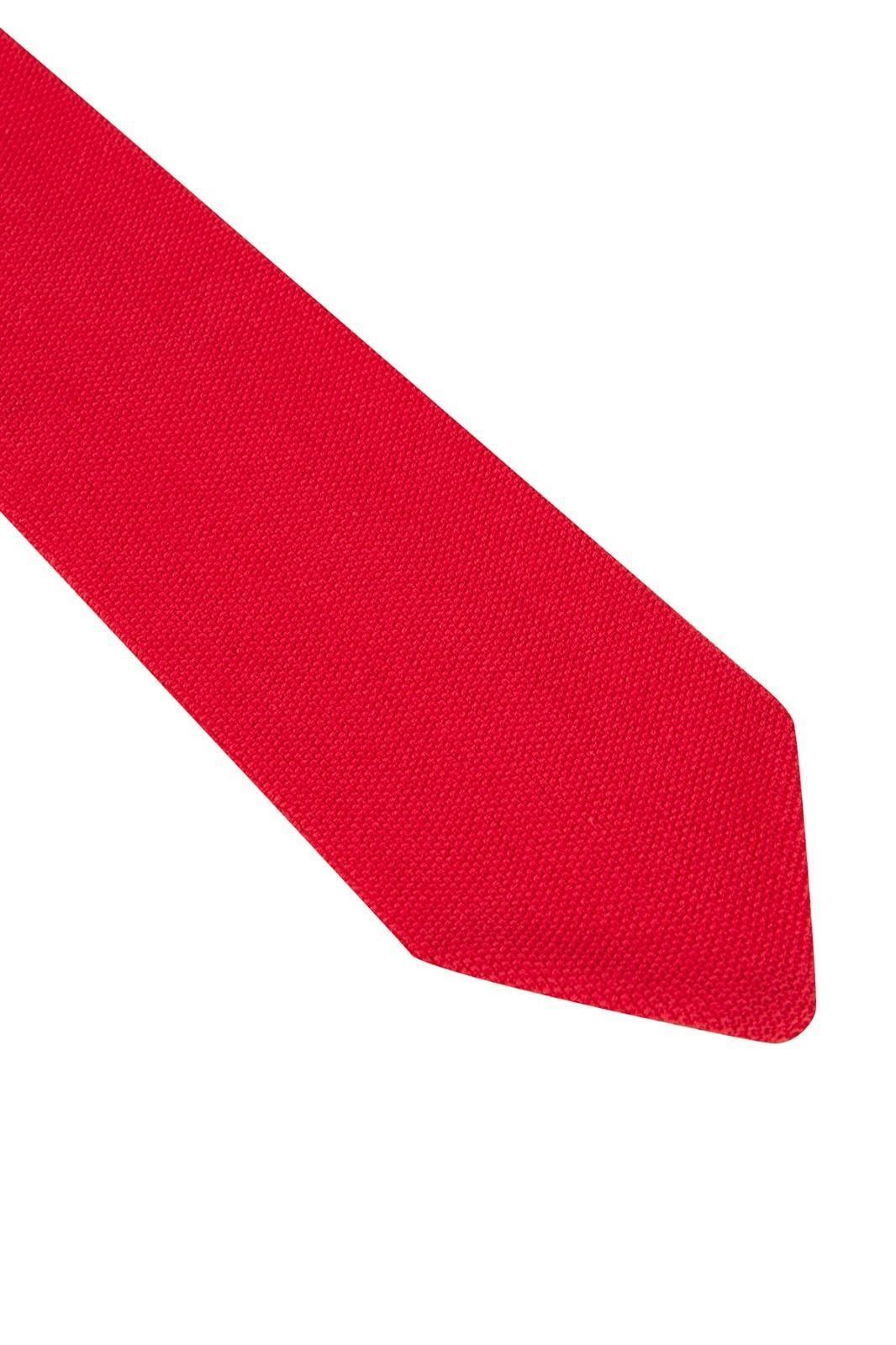 Pike Örgü Kırmızı Triko Kravat
