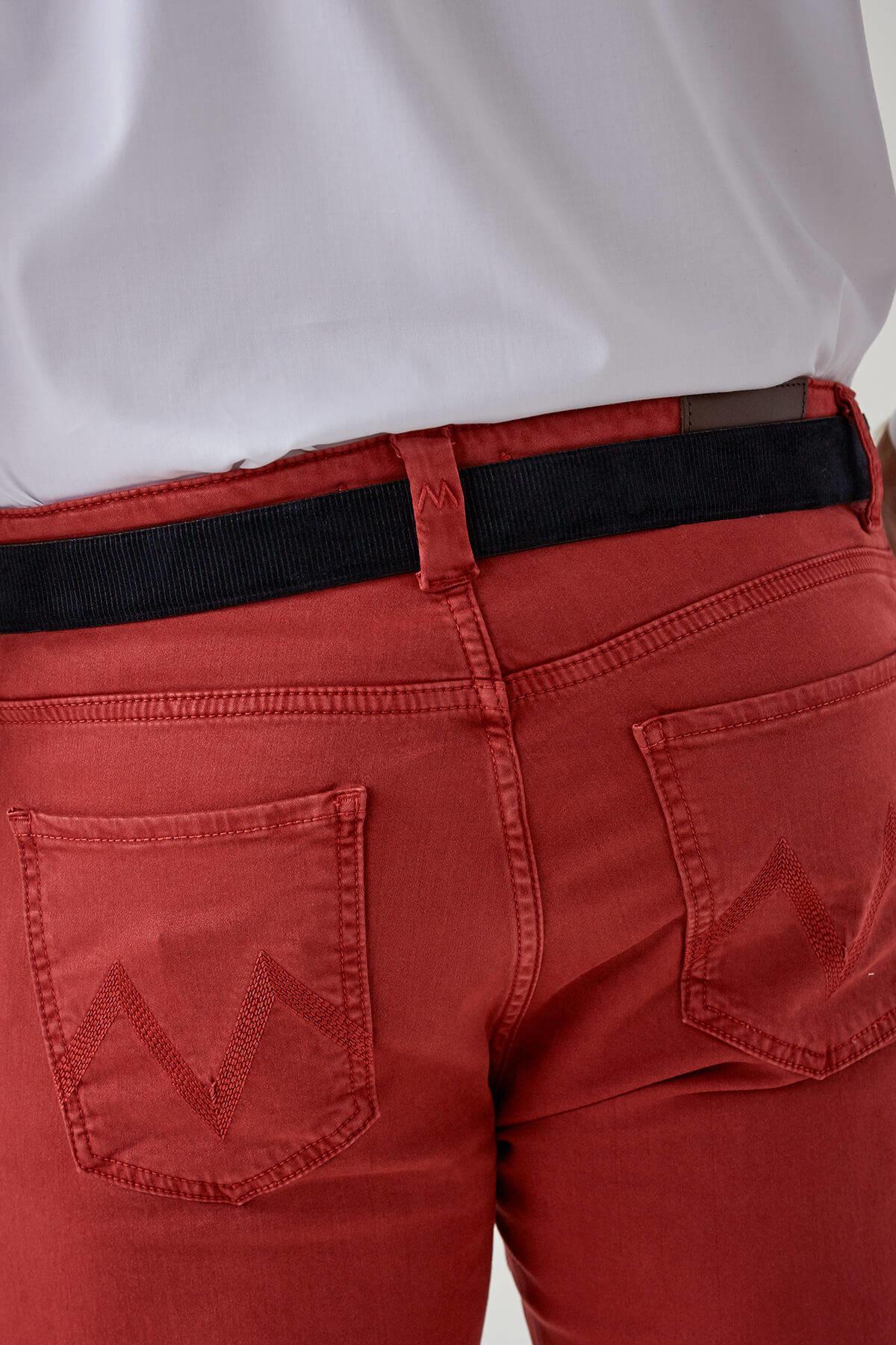 Kırmızı Slim Fit 5 Cep Pantolon
