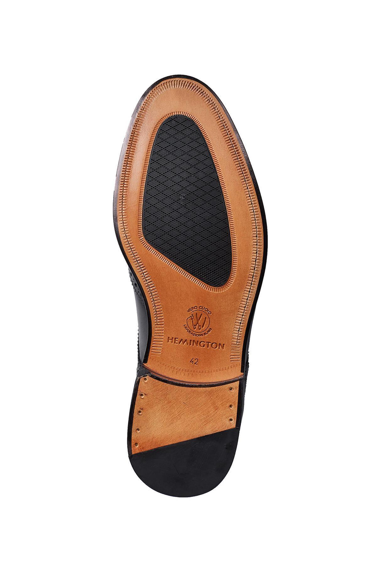 El Yapımı Koyu Gri Klasik Deri Ayakkabı