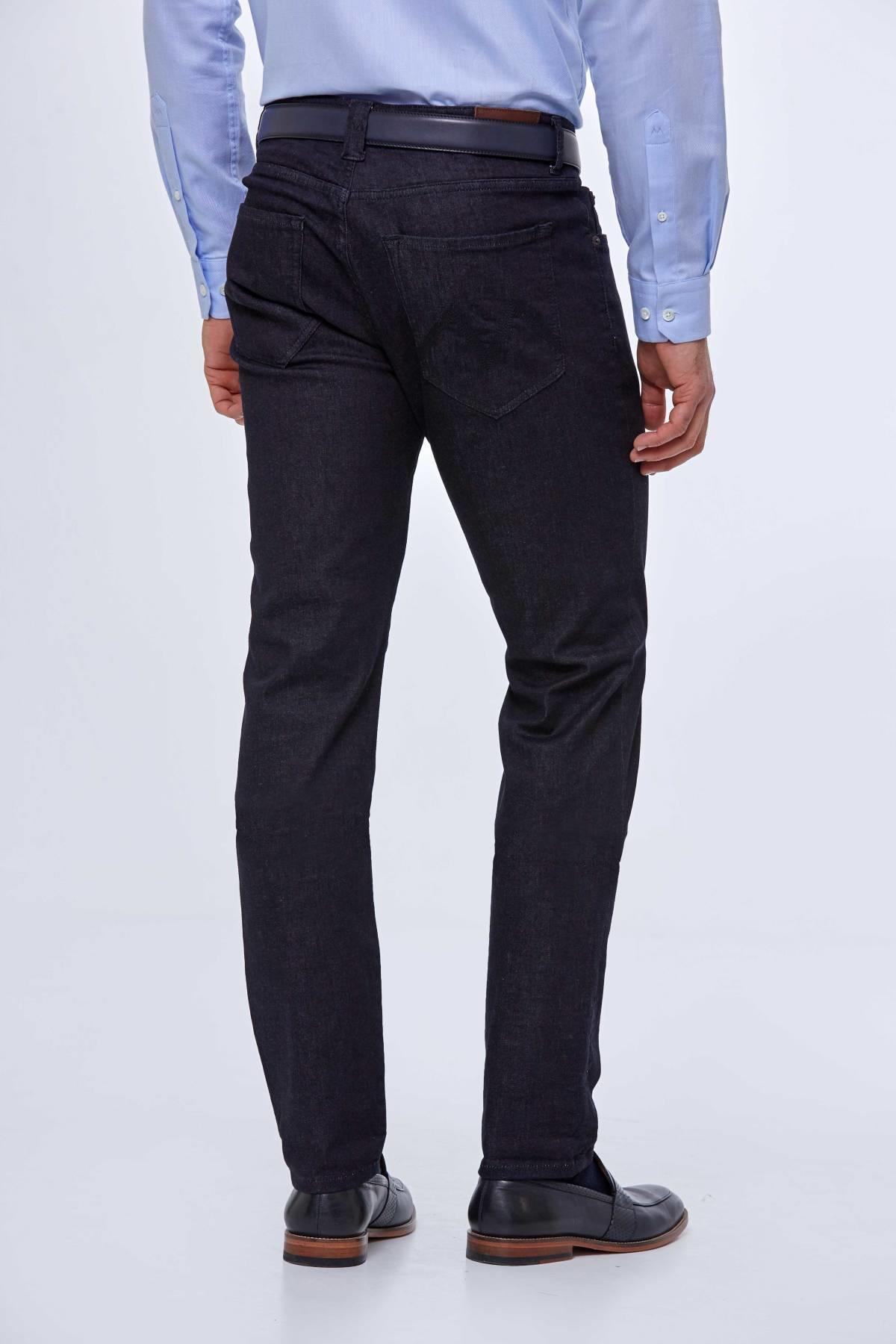 Slim Fit Koyu Renk Denim Pantolon
