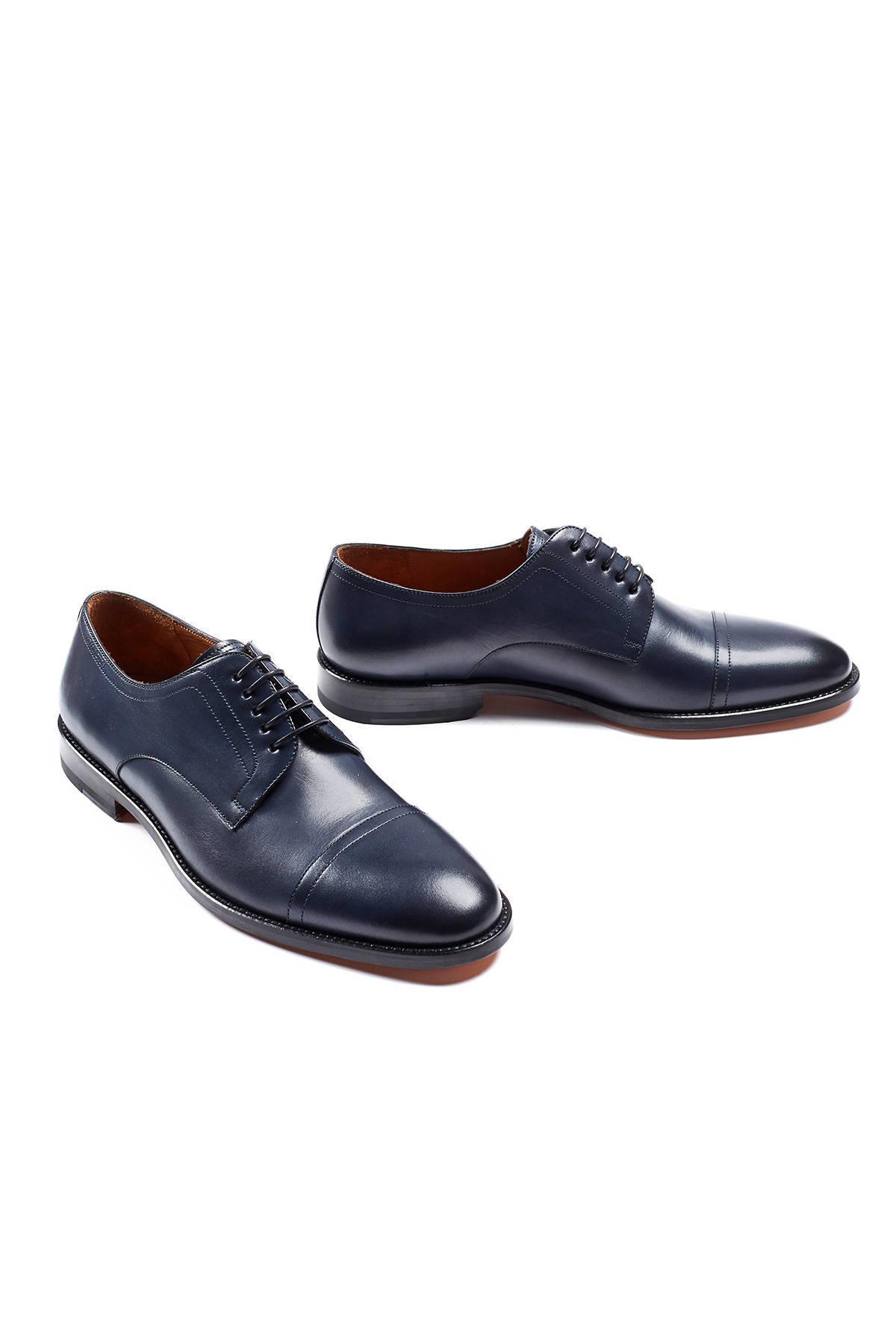 El Yapımı Lacivert Deri Ayakkabı