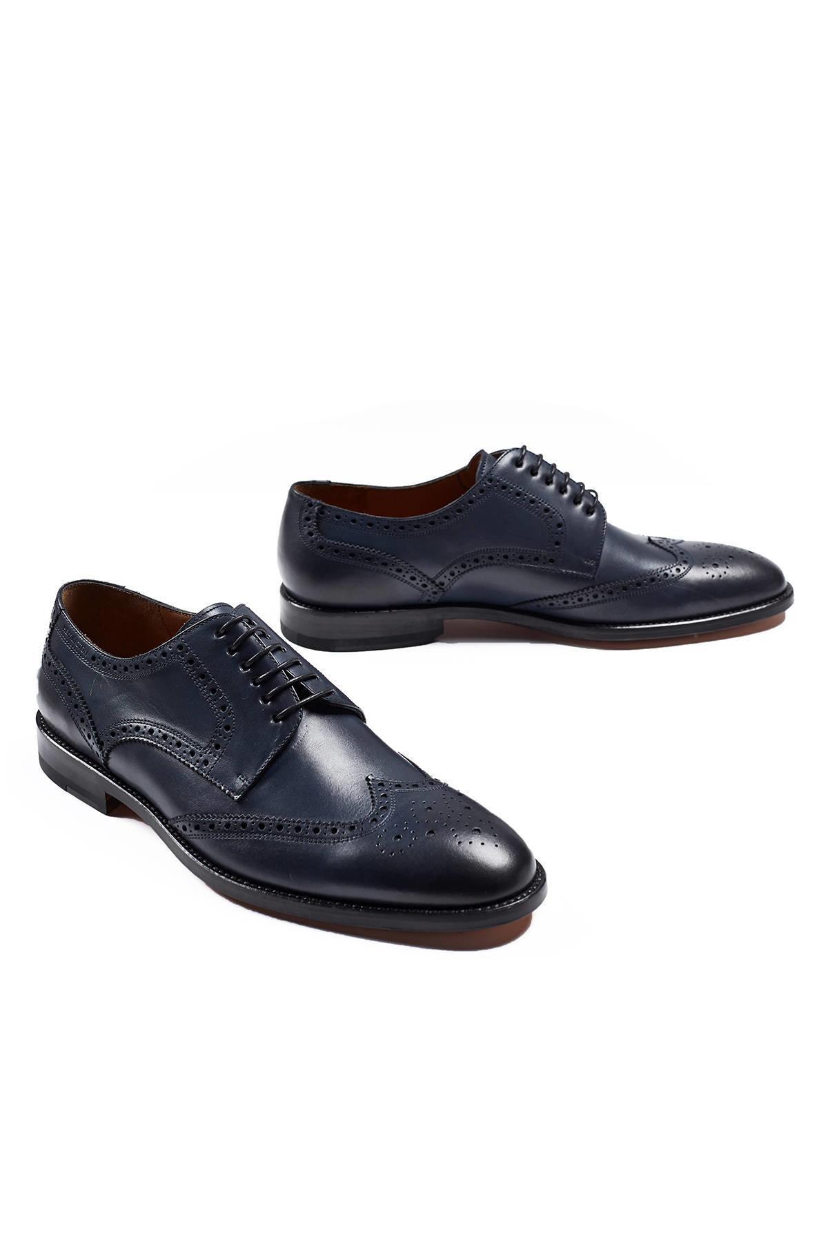 El Yapımı Lacivert Klasik Deri Ayakkabı
