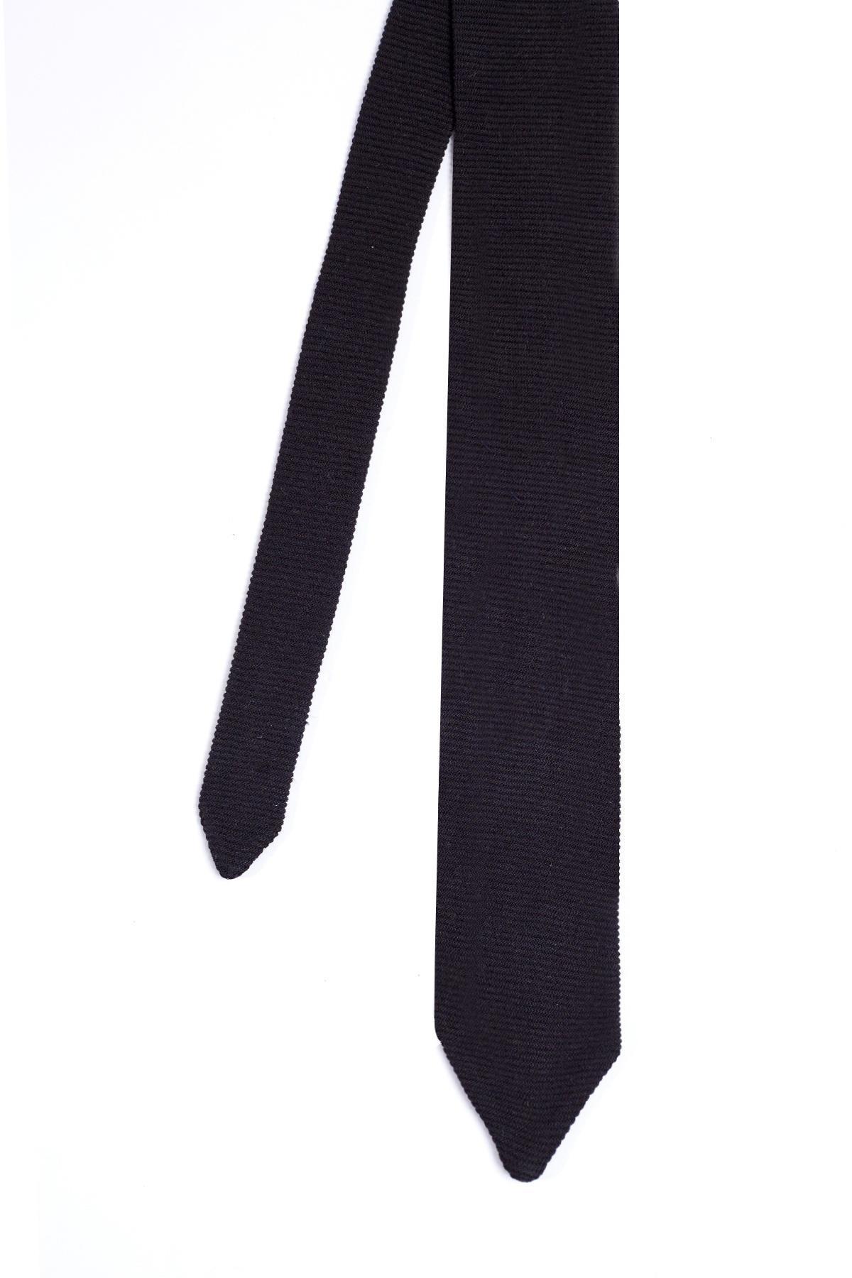 İpek Örgü Siyah Kravat