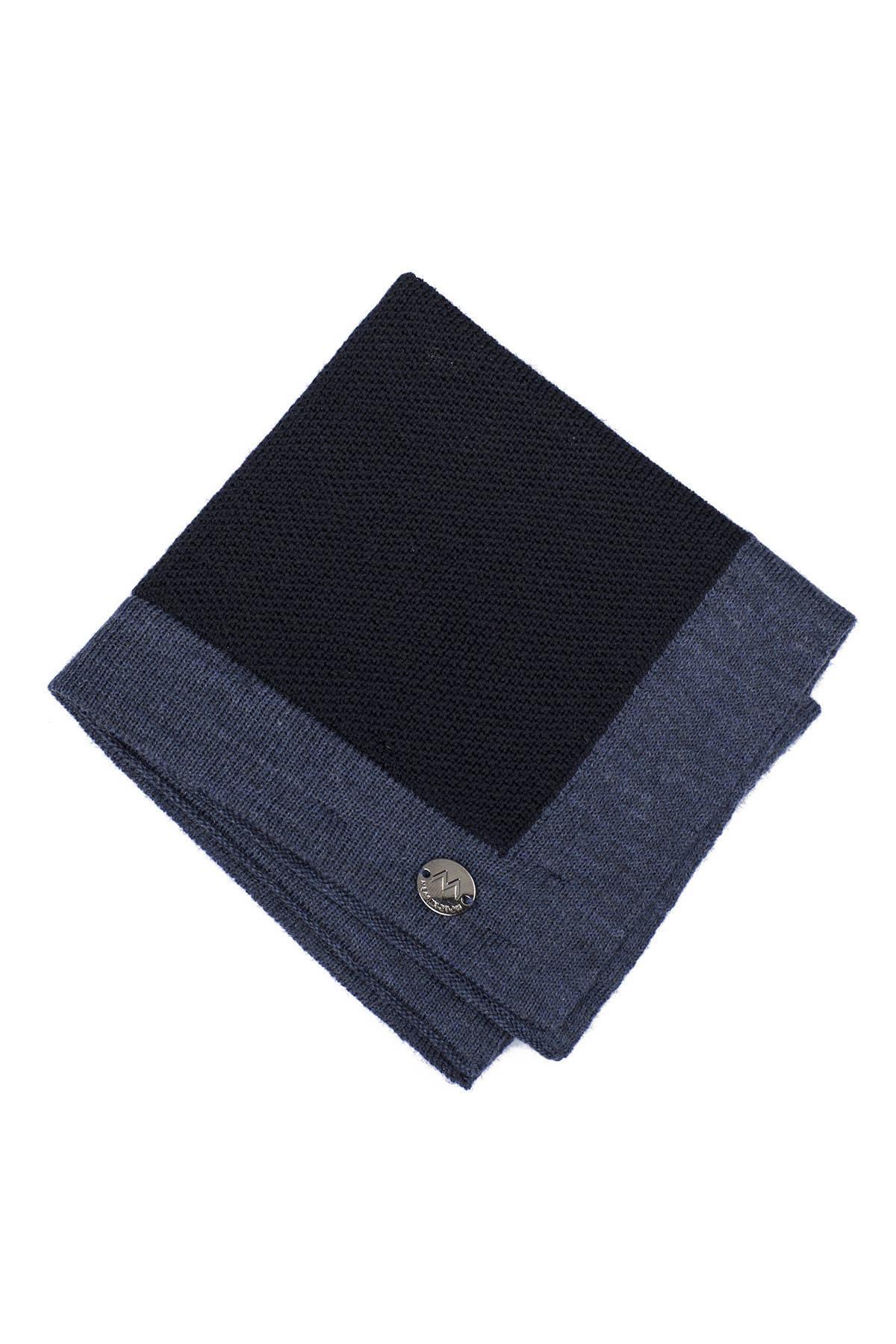 Lacivert Mavi Örgü Ceket Mendili