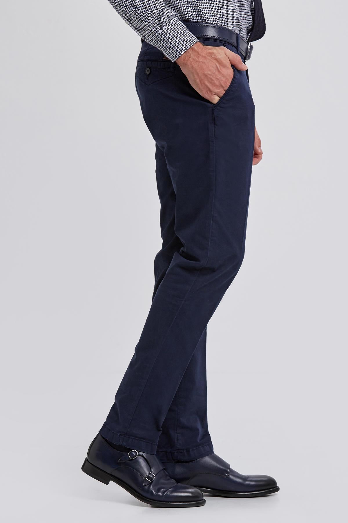 Pamuk Lacivert Chino Pantolon