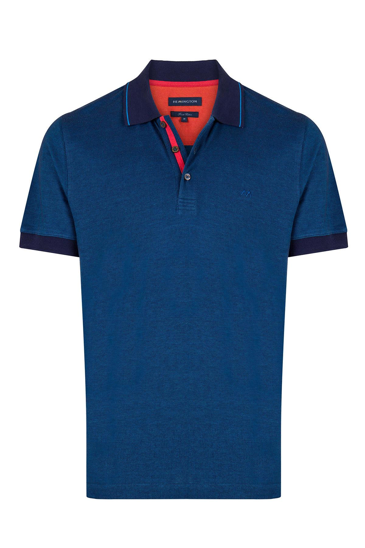 Pike Örgü Lacivert Polo Yaka T-Shirt