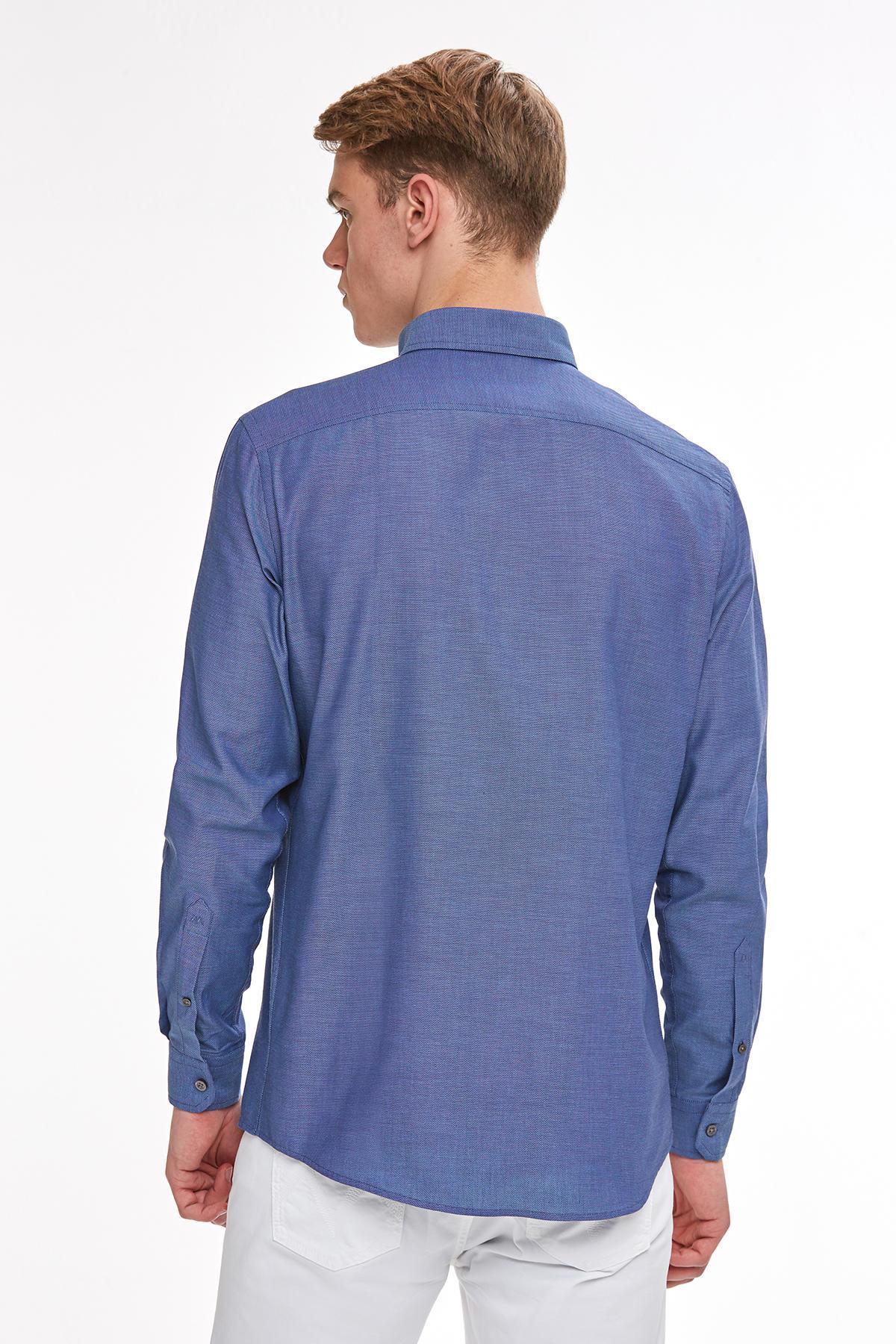 Lacivert Yazlık Oxford Gömlek