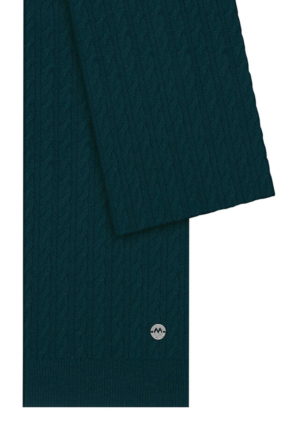 Lambswool Yün Koyu Yeşil Atkı