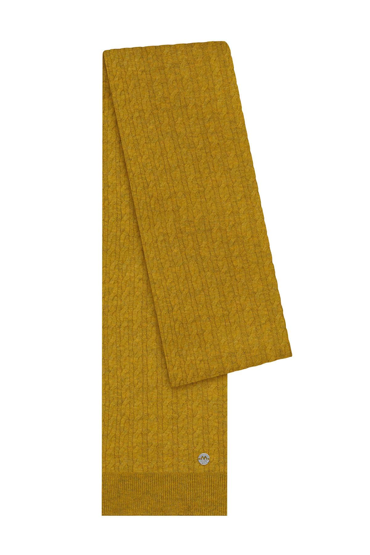 Lambswool Yün Sarı Atkı