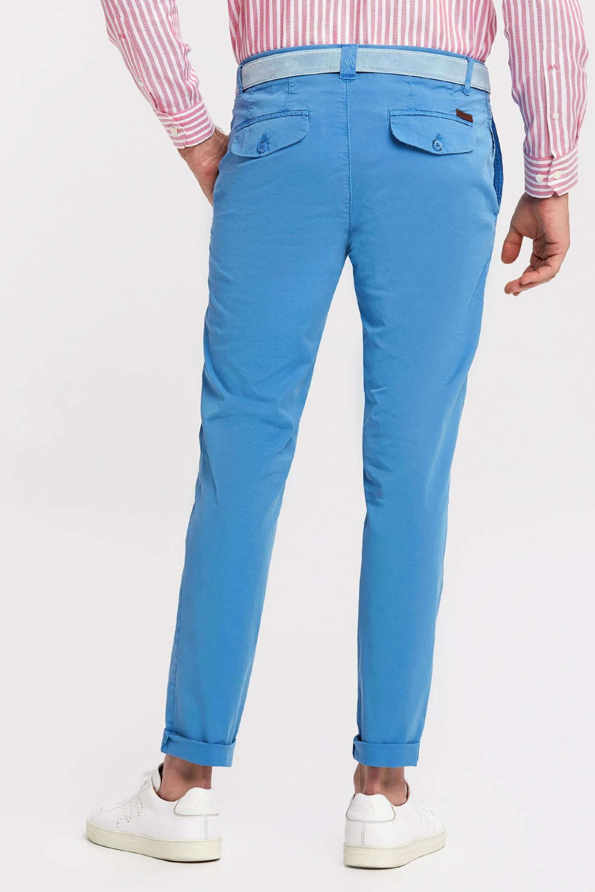 Mavi Pamuk Yazlık Chino Pantolon