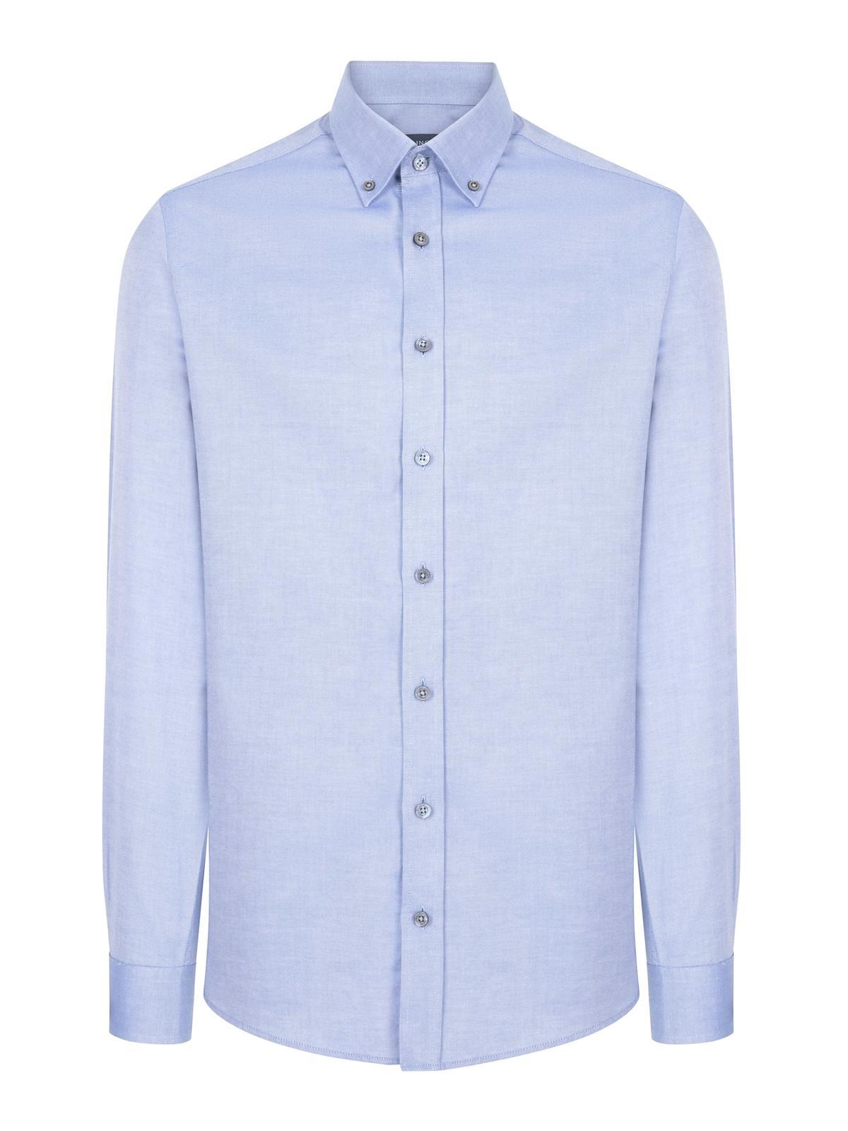 Açık Mavi Yazlık Oxford Gömlek