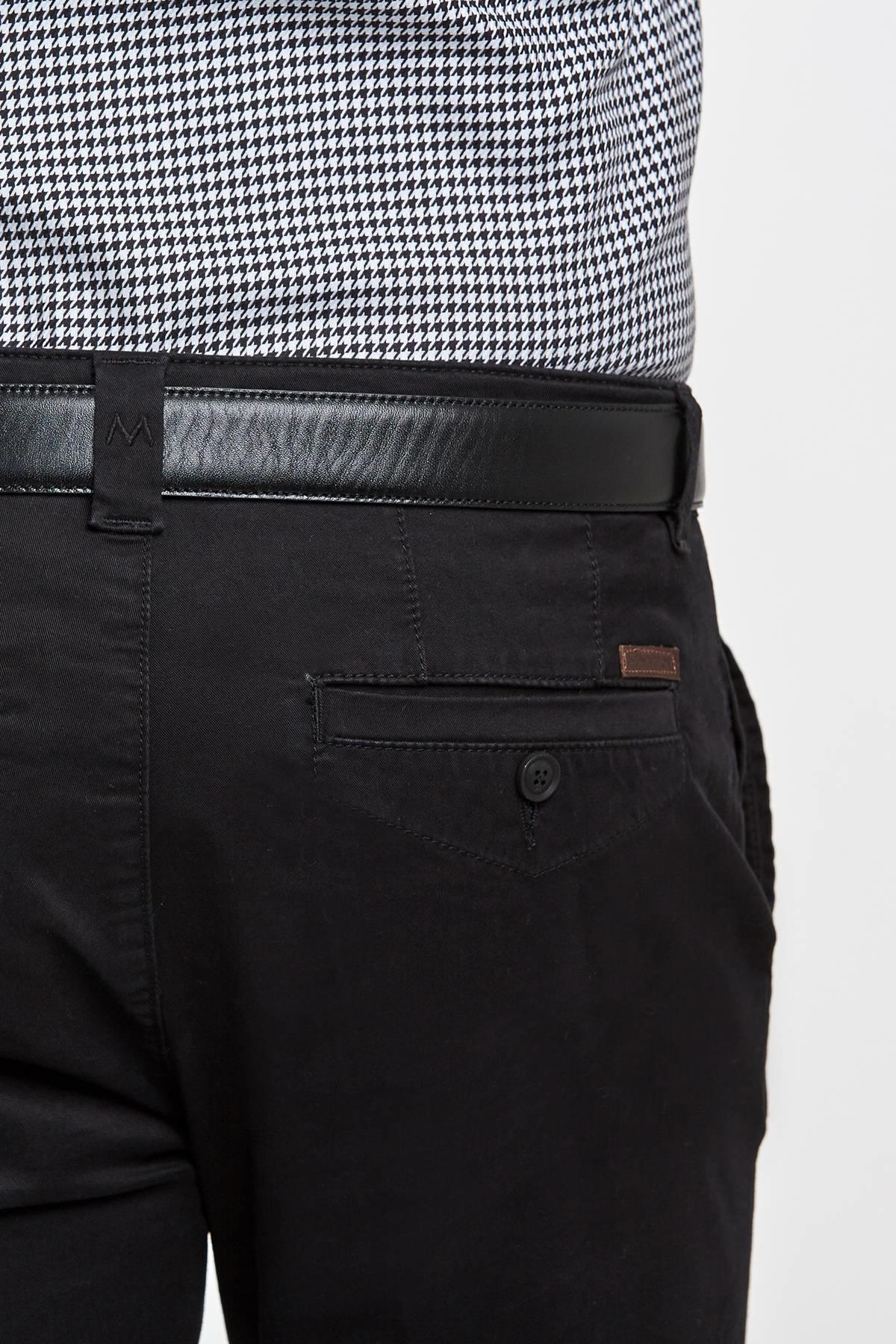 Pamuk Siyah Chino Pantolon