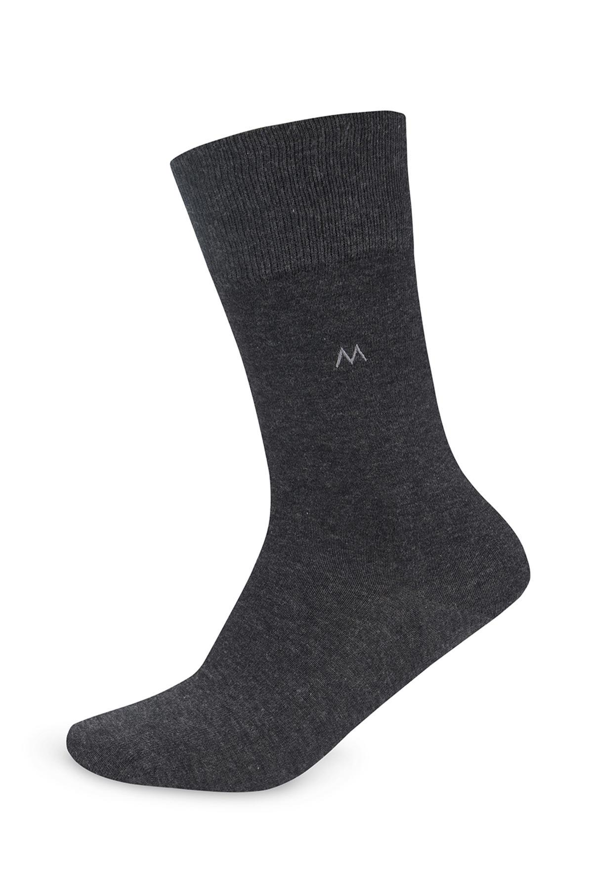 Pamuklu Antrasit Çorap
