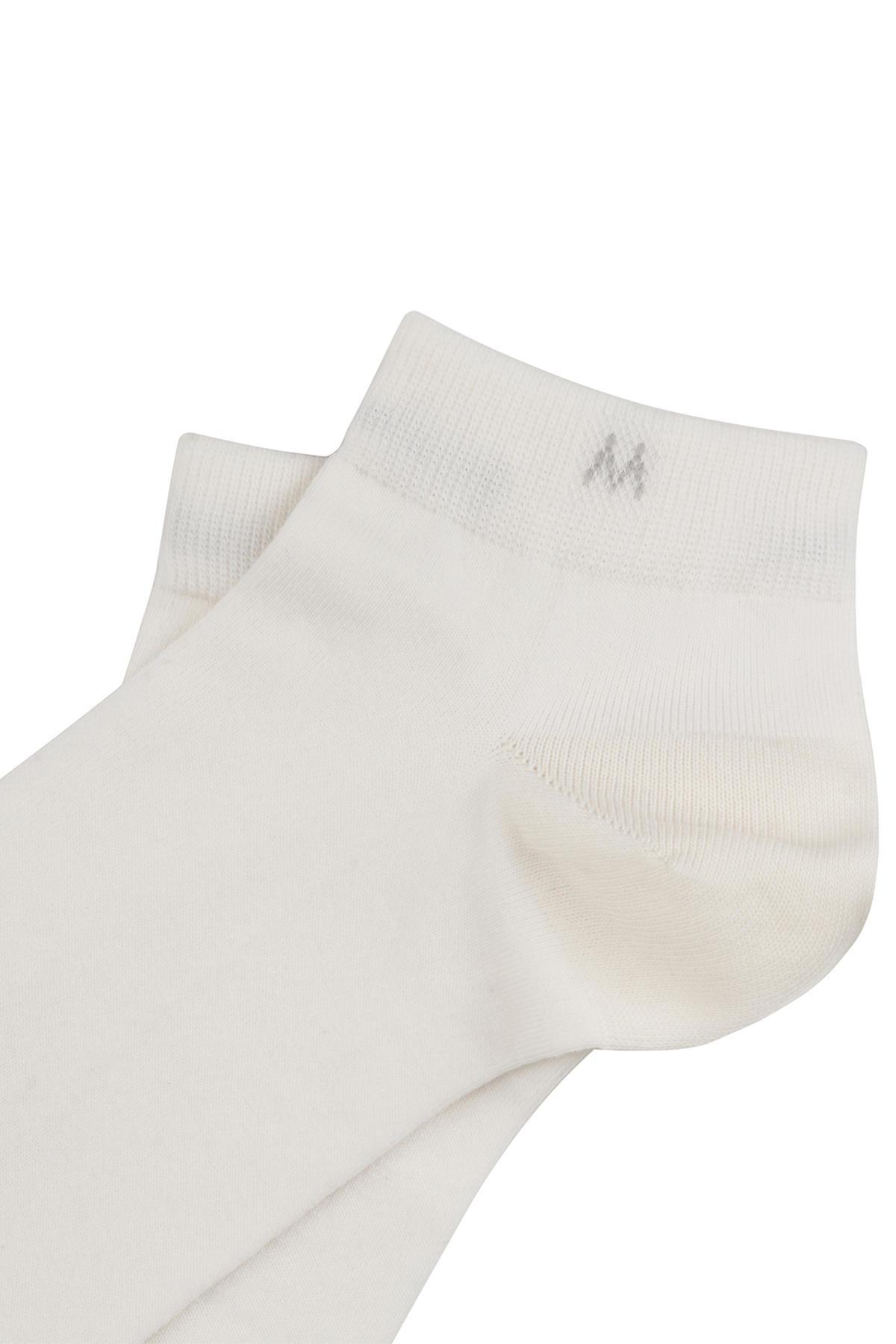 Pamuklu Beyaz Kısa Sneaker Çorabı