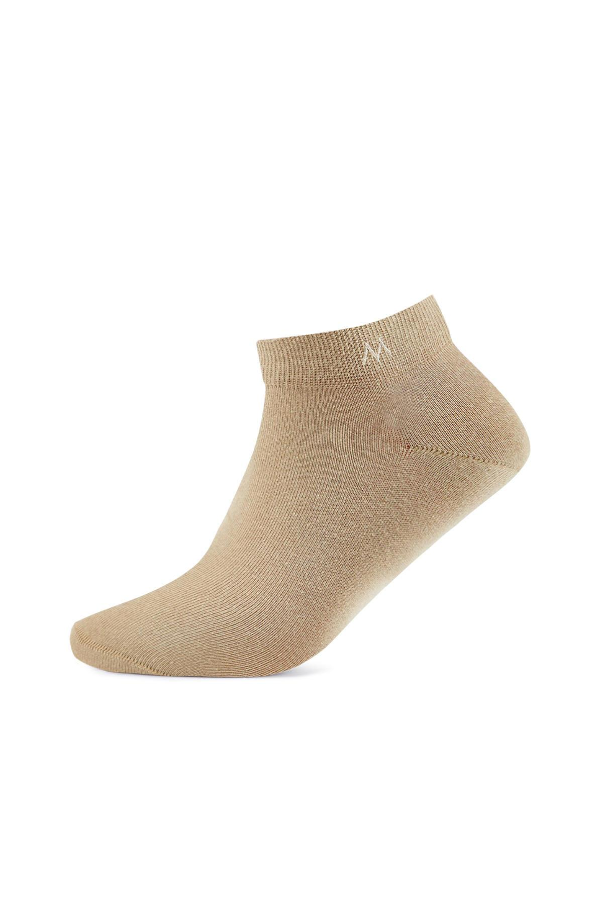 Pamuklu Camel Kısa Sneaker Çorabı