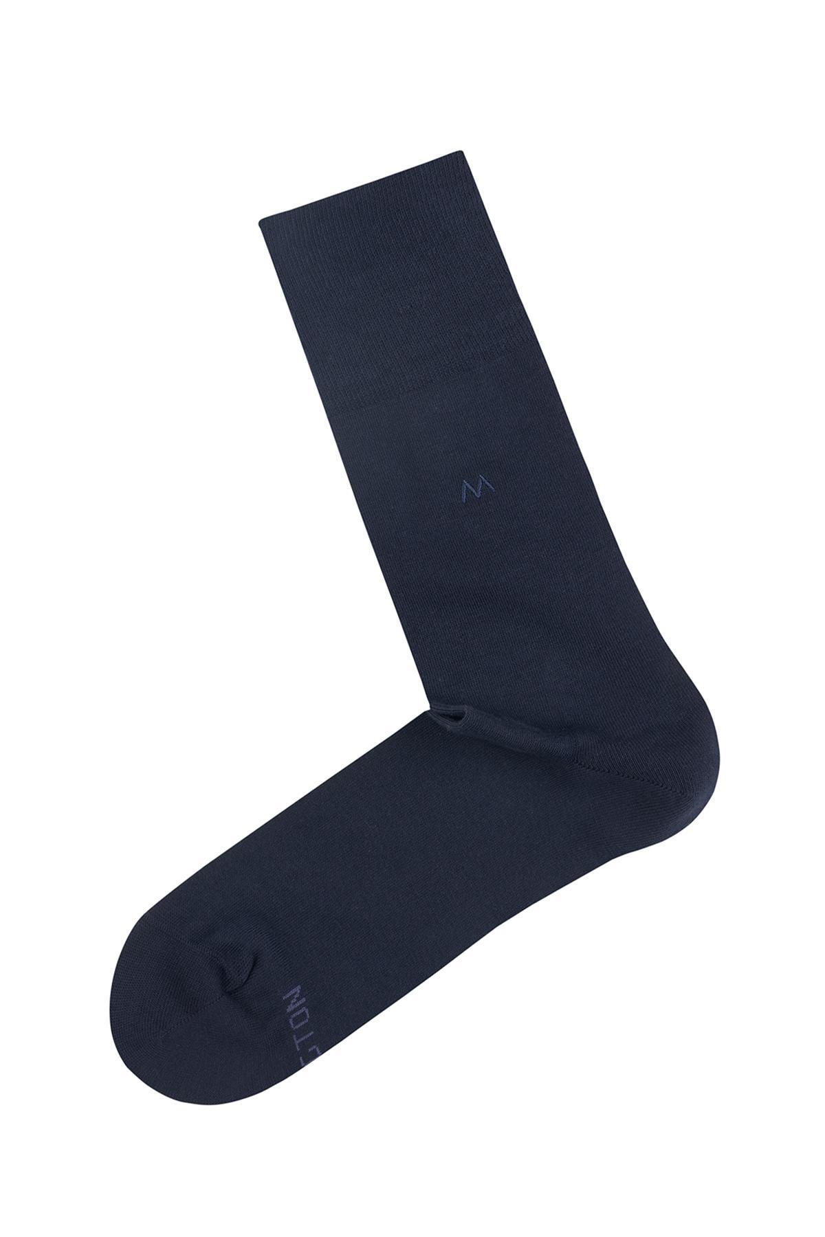 Pamuklu Lacivert Çorap