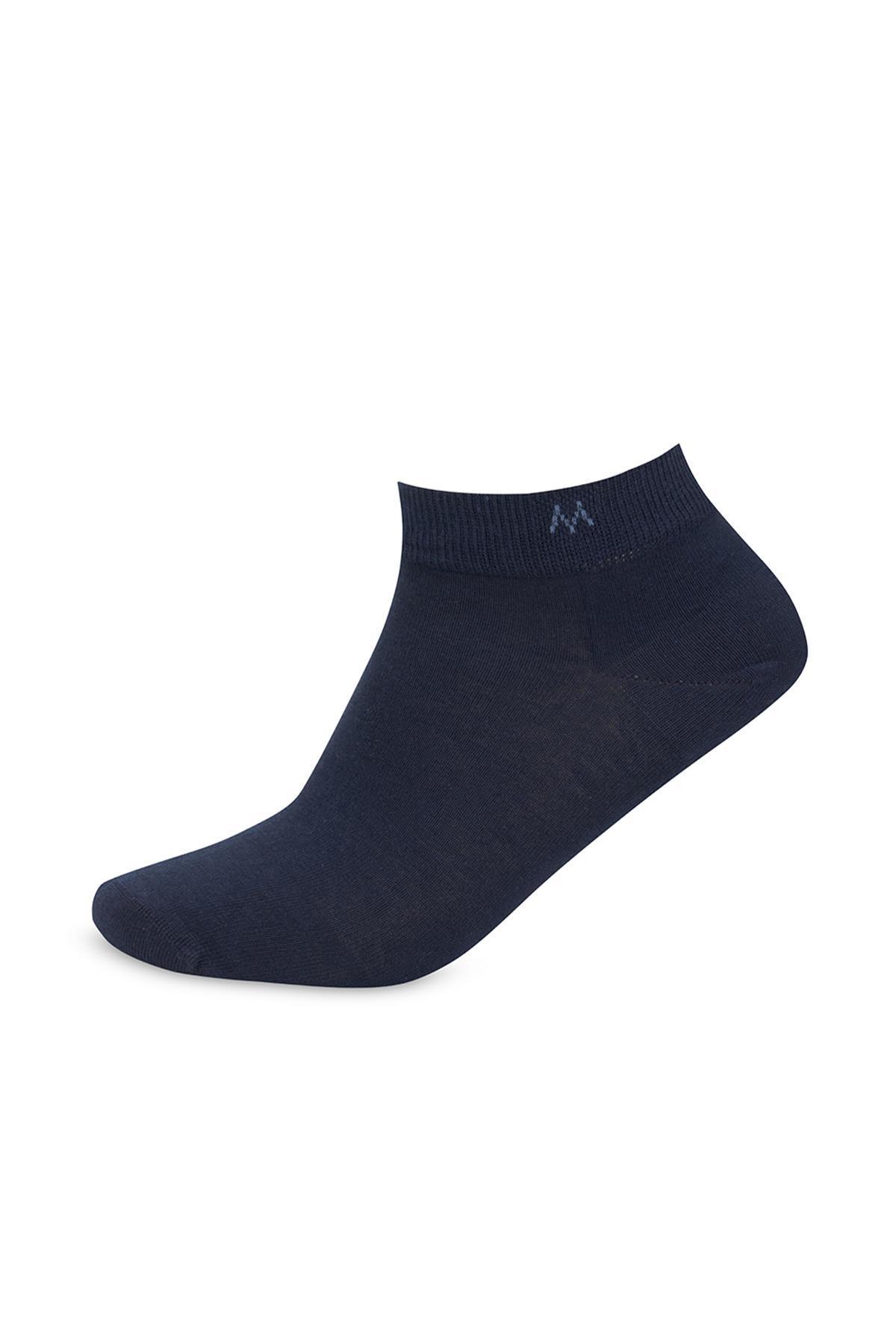 Pamuklu Lacivert Kısa Sneaker Çorabı