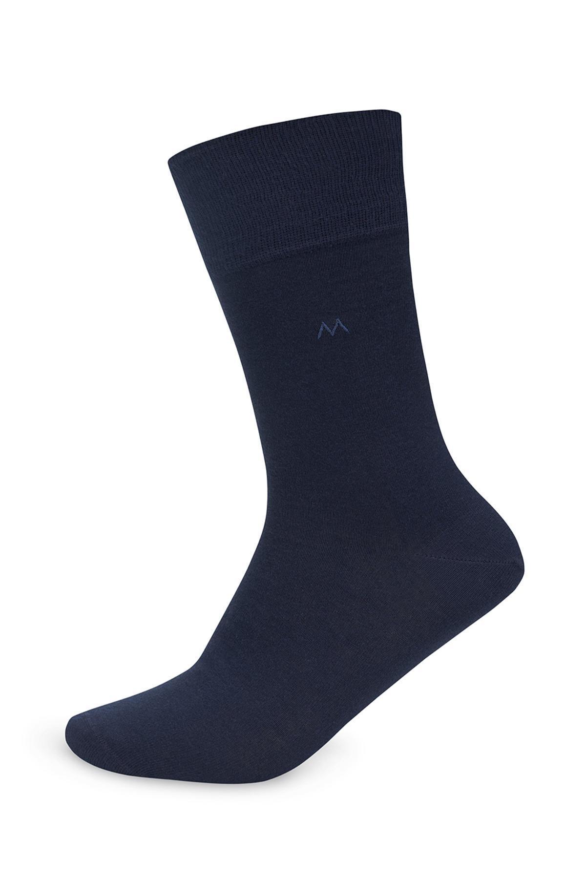 Pamuklu Lacivert Yazlık Çorap