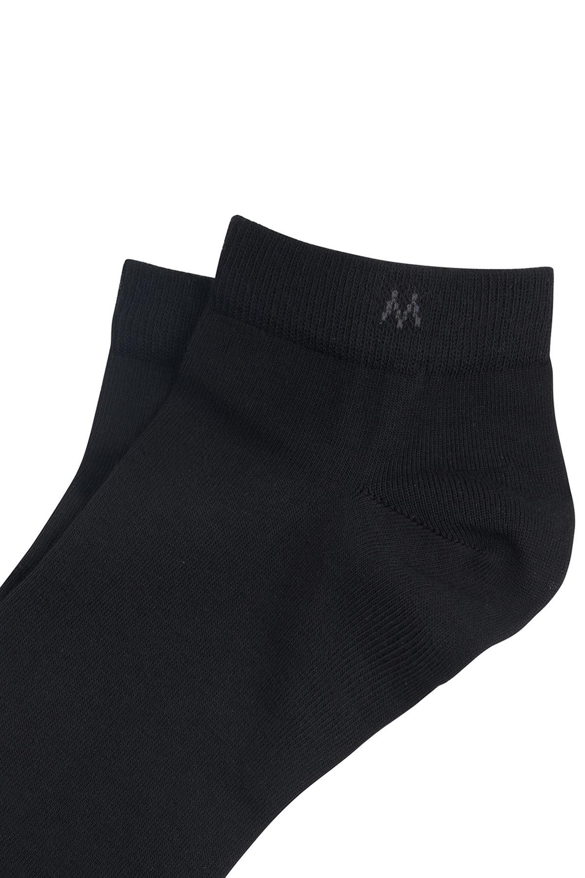 Pamuklu Siyah Kısa Sneaker Çorabı