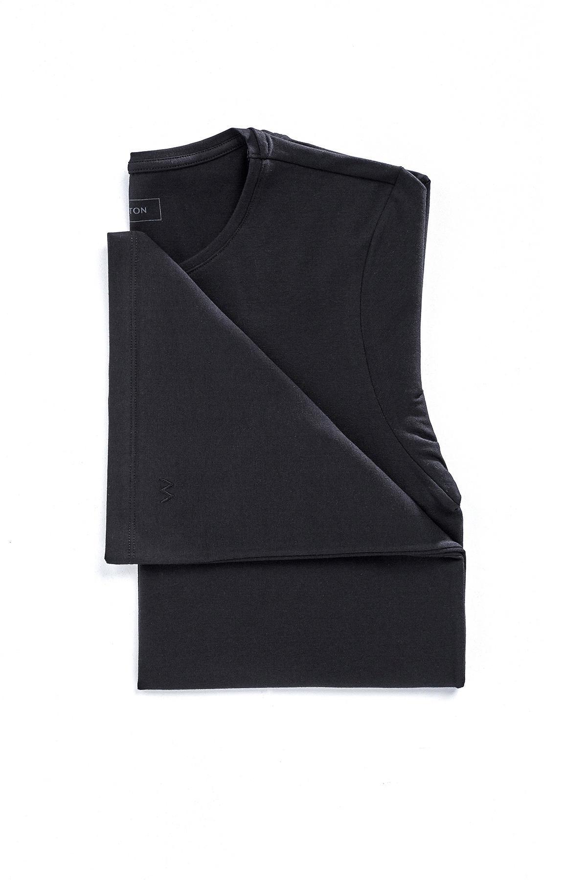Pamuklu Siyah İç Giyim T-Shirt