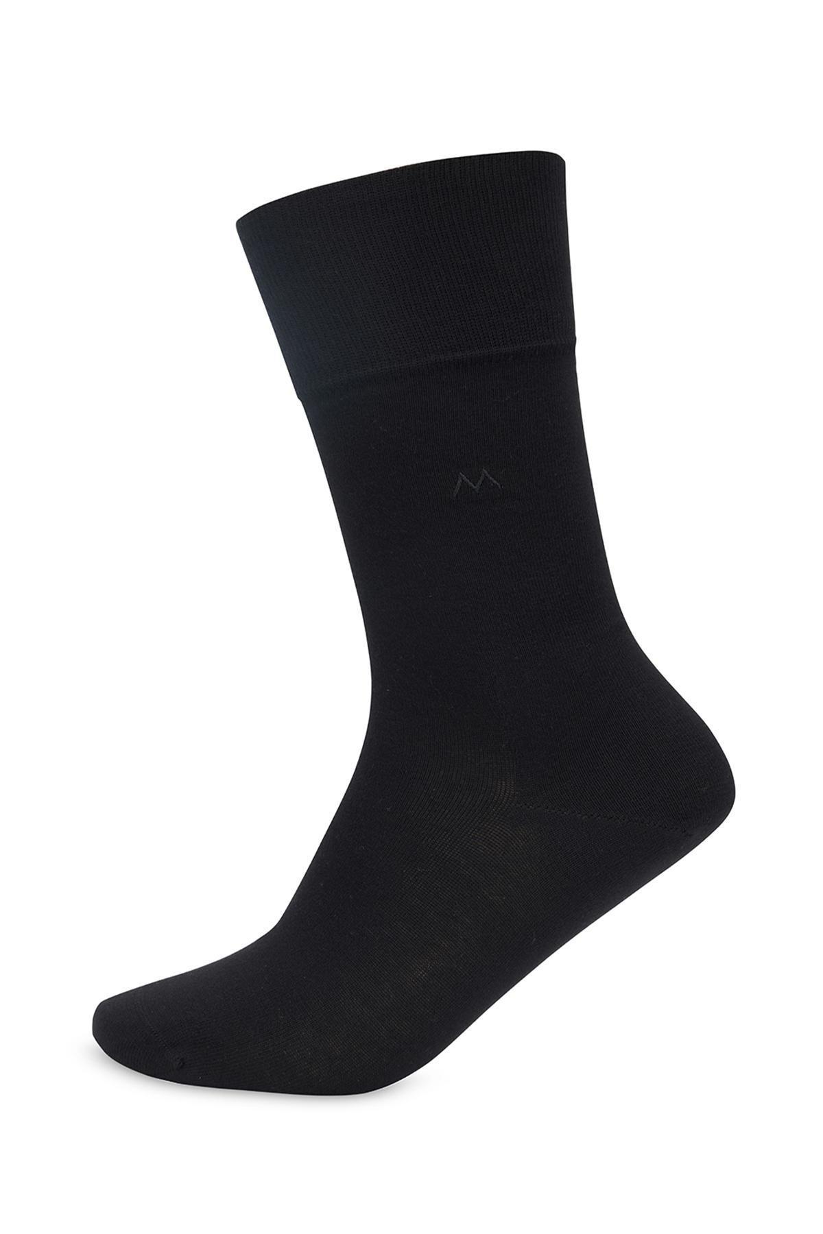 Pamuklu Siyah Yazlık Çorap