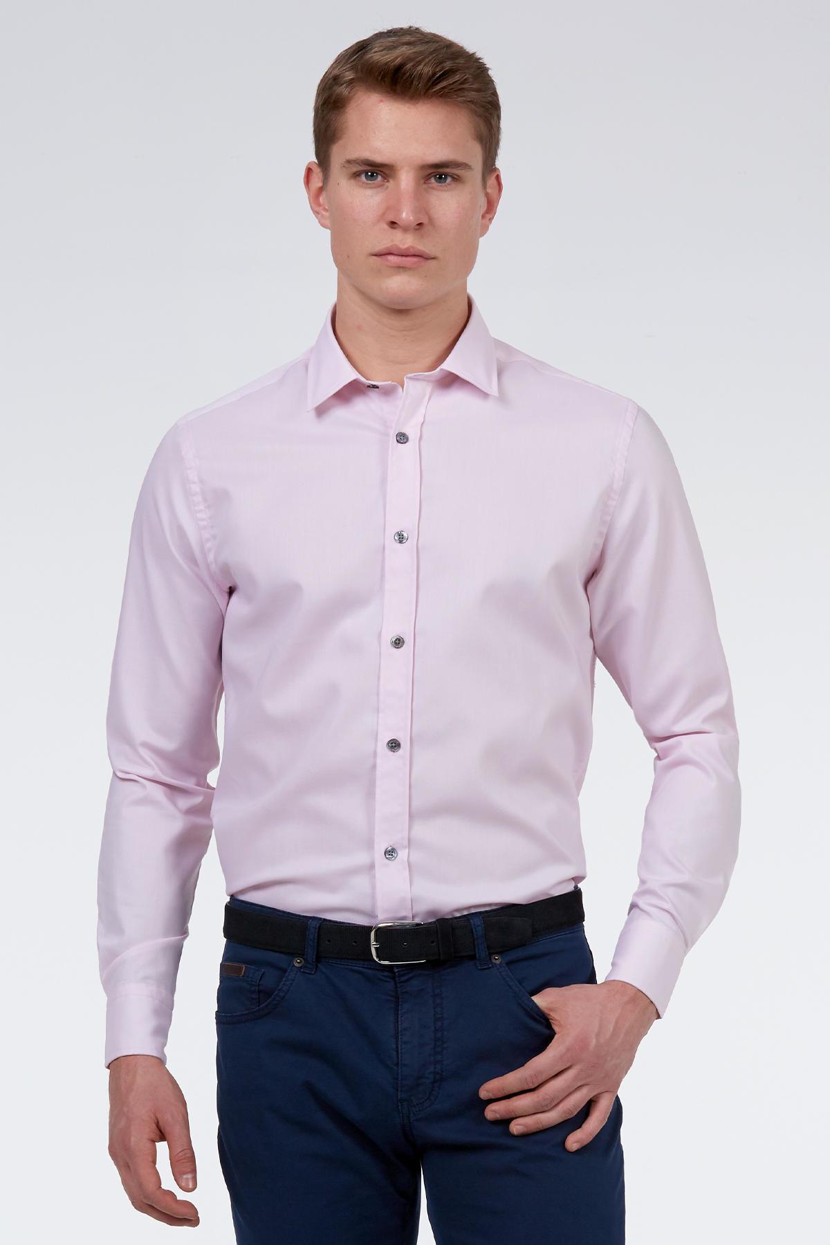 Pembe Non-Iron Business Gömlek
