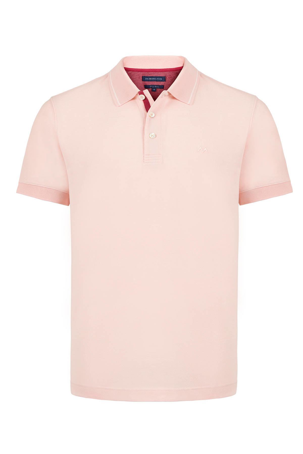 Pike Örgü Pembe Polo Yaka T-Shirt