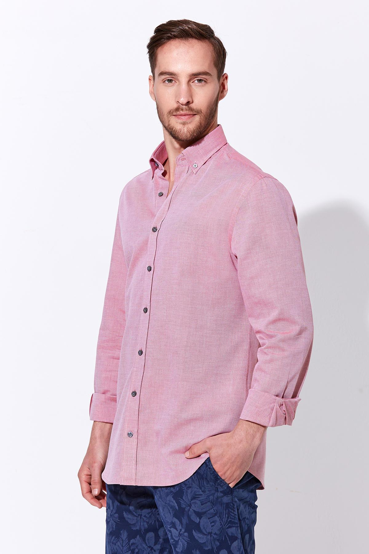 Pembe Yazlık Oxford Gömlek