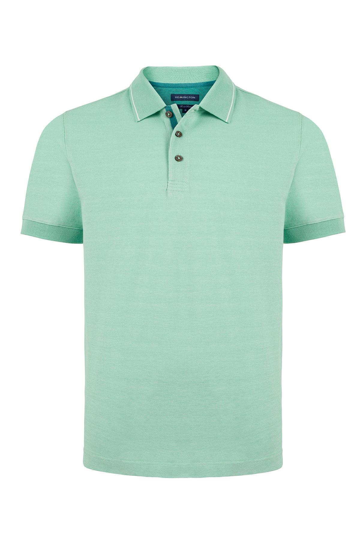 Pike Örgü Yeşil Polo Yaka T-Shirt